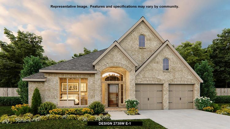 Exterior featured in the 2738W By Perry Homes in San Antonio, TX