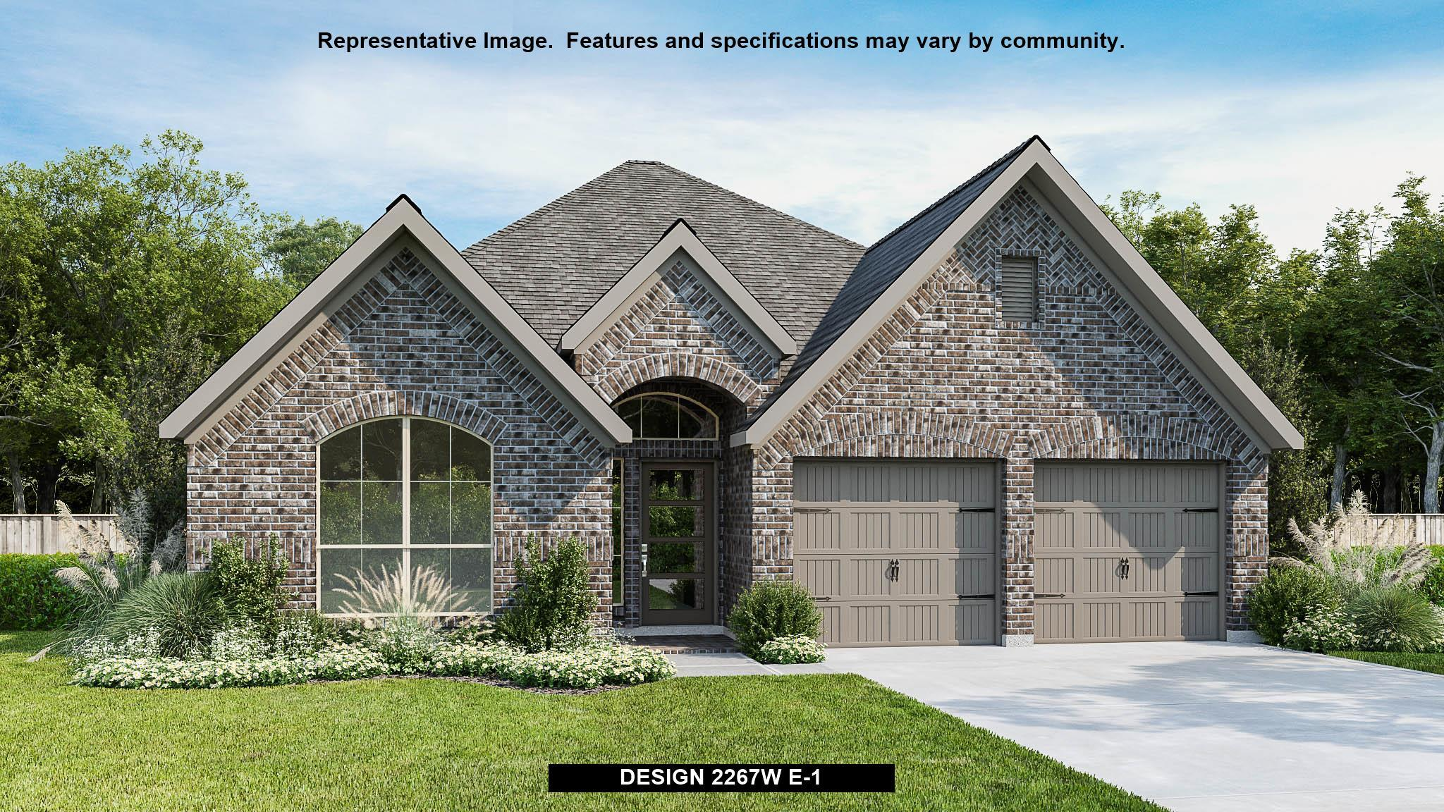 Exterior featured in the 2267W By Perry Homes in Dallas, TX