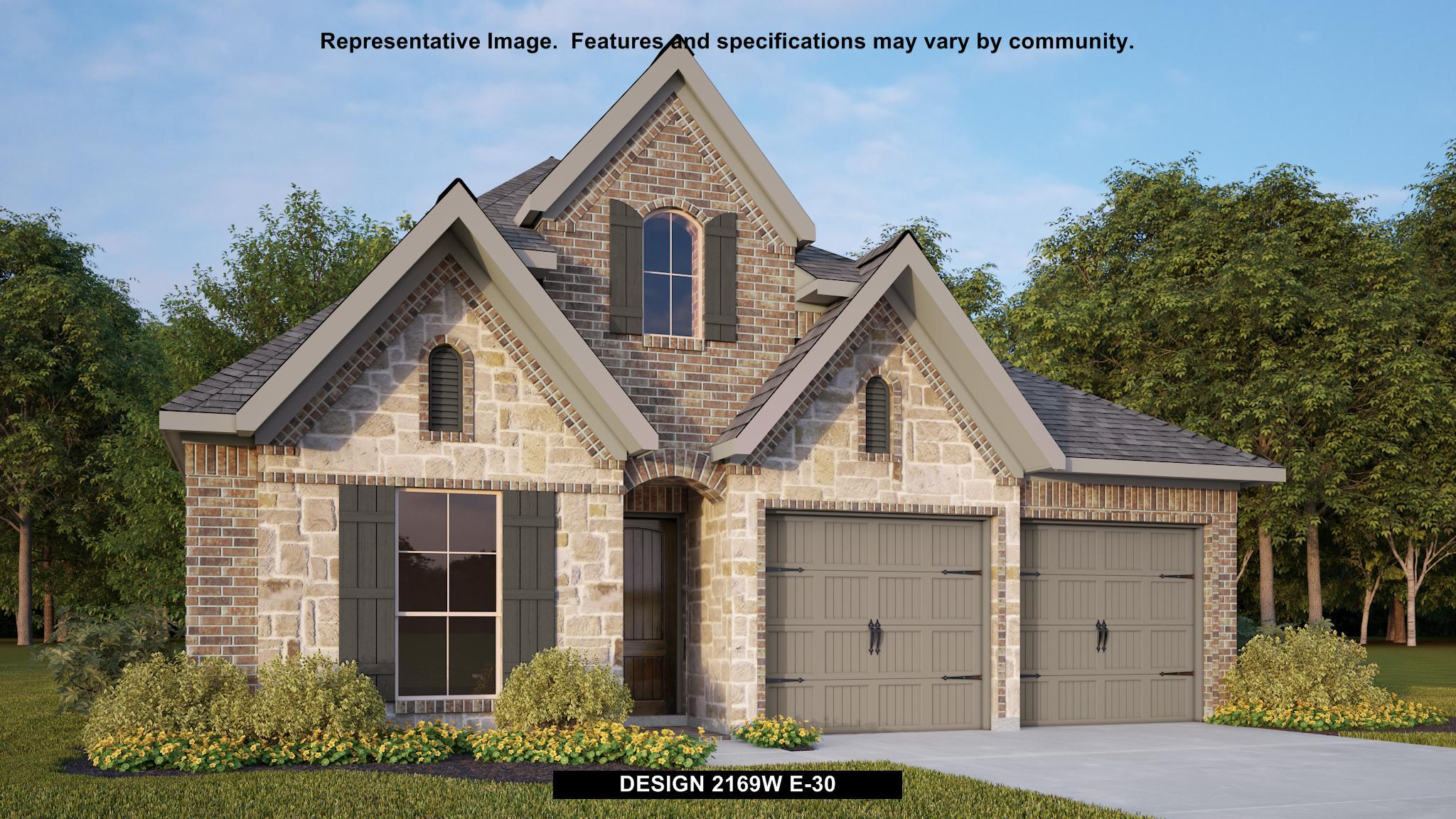 Exterior featured in the 2169W By Perry Homes in Dallas, TX