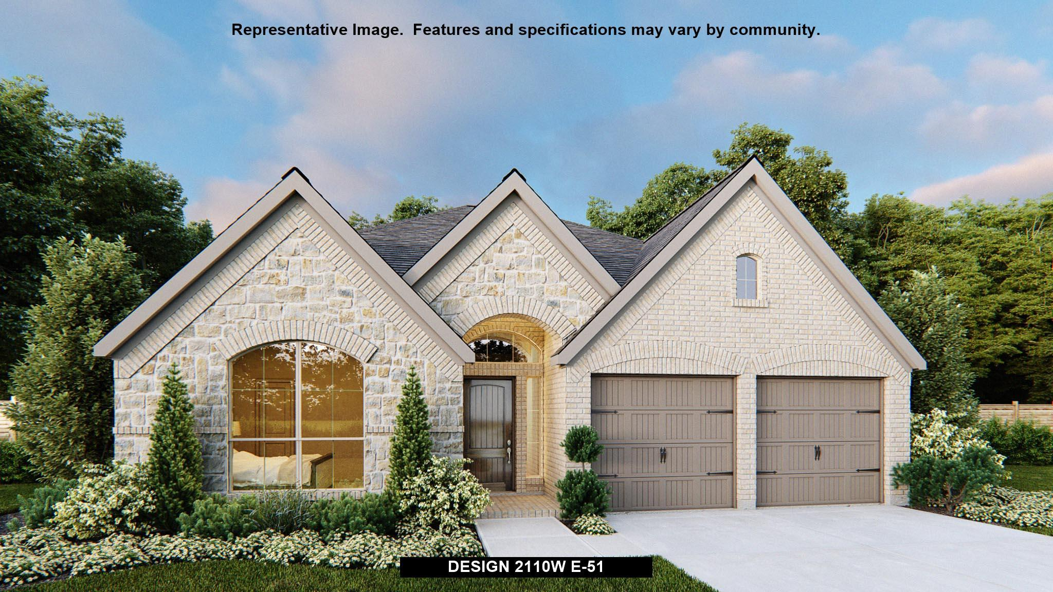 Exterior featured in the 2110W By Perry Homes in San Antonio, TX