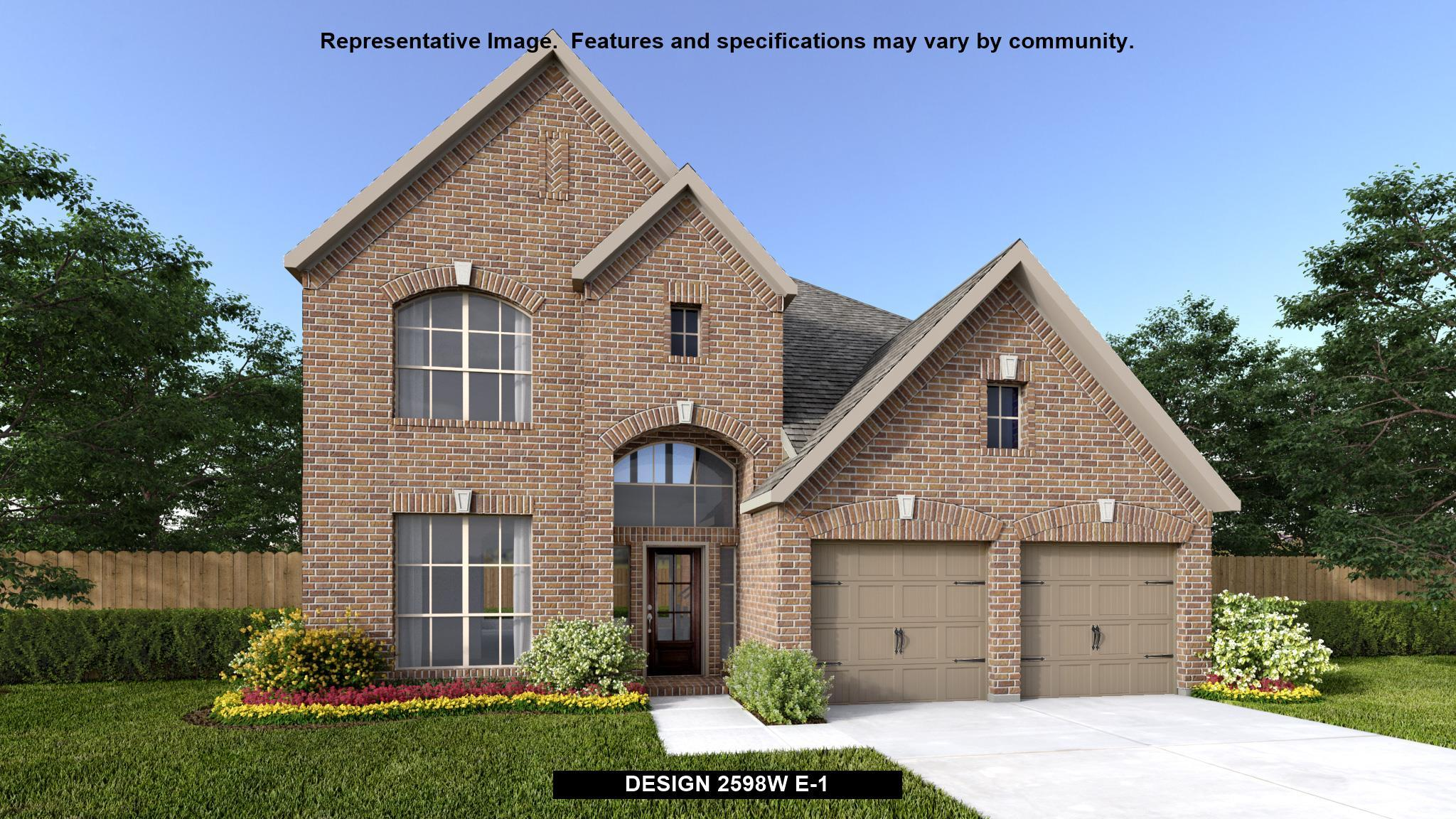 Exterior featured in the 2598W By Perry Homes in Dallas, TX