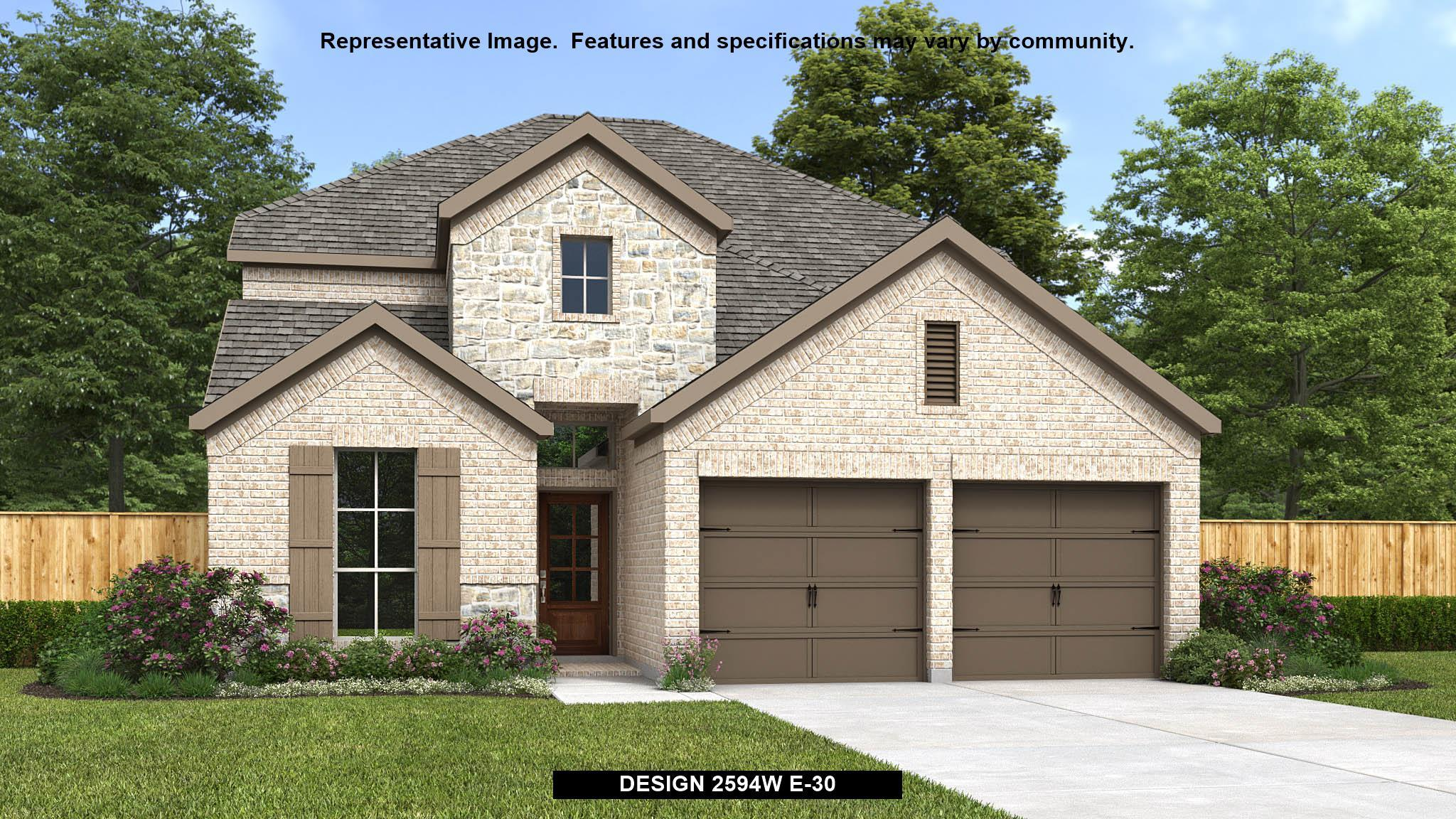 Exterior featured in the 2594W By Perry Homes in San Antonio, TX
