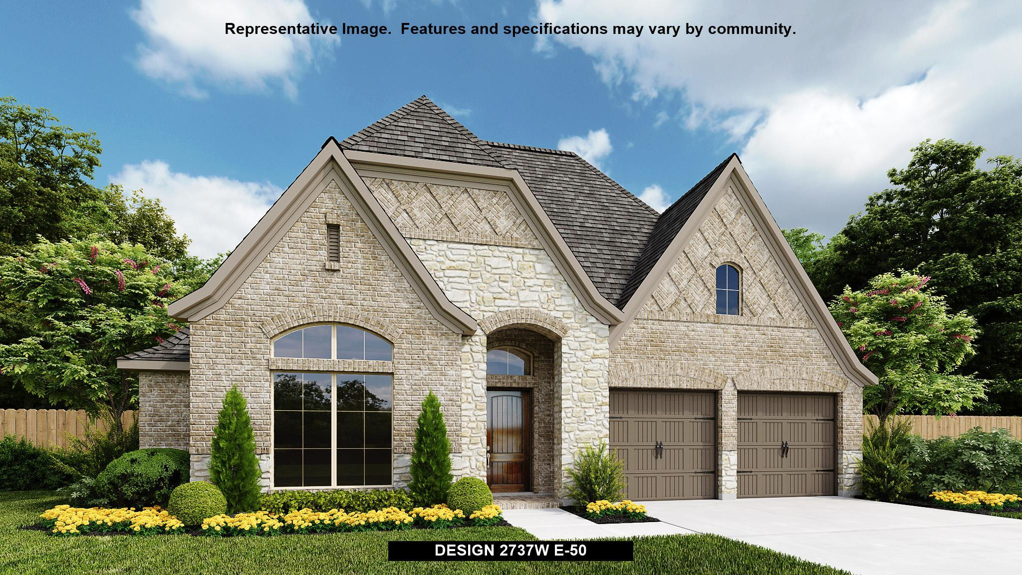 Exterior featured in the 2737W By Perry Homes in Fort Worth, TX