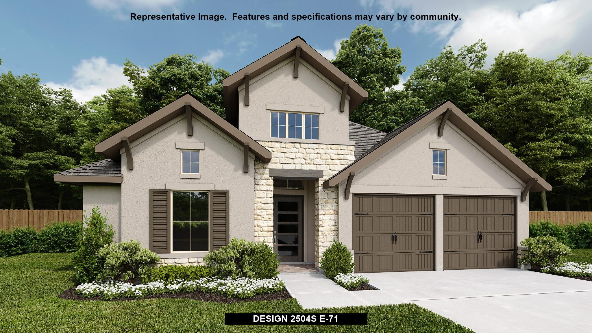 Exterior featured in the 2504S By Perry Homes in San Antonio, TX