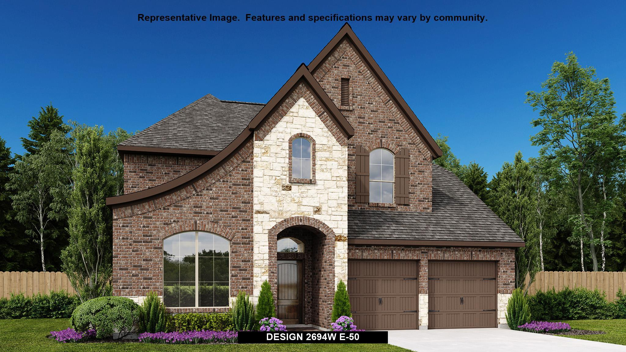 Exterior featured in the 2694W By Perry Homes in Dallas, TX