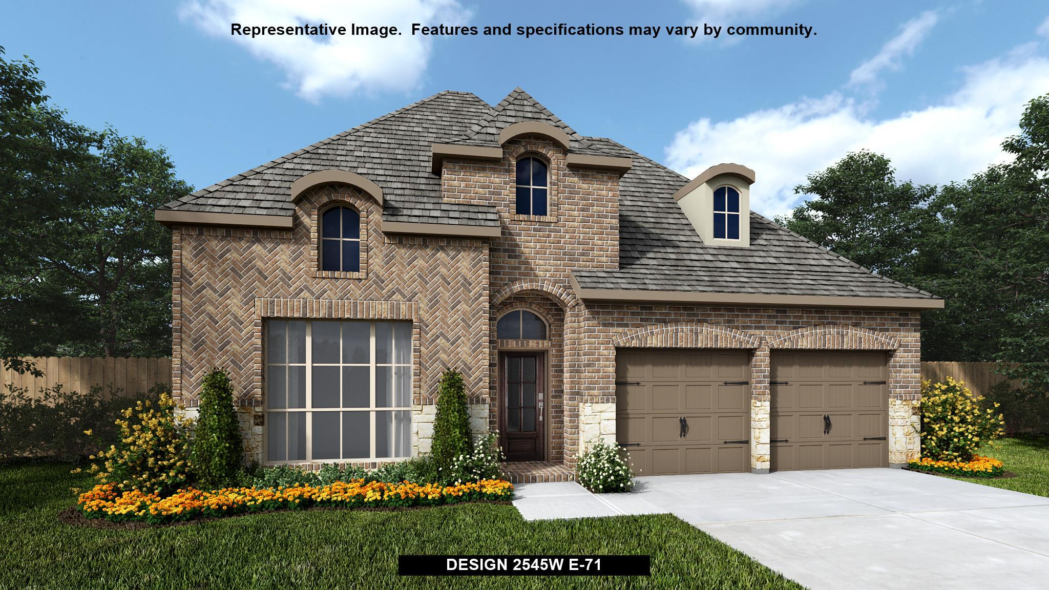 Exterior featured in the 2545W By Perry Homes in Dallas, TX