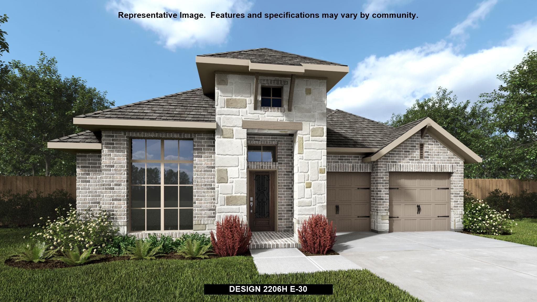 Exterior featured in the 2206H By Perry Homes in Dallas, TX