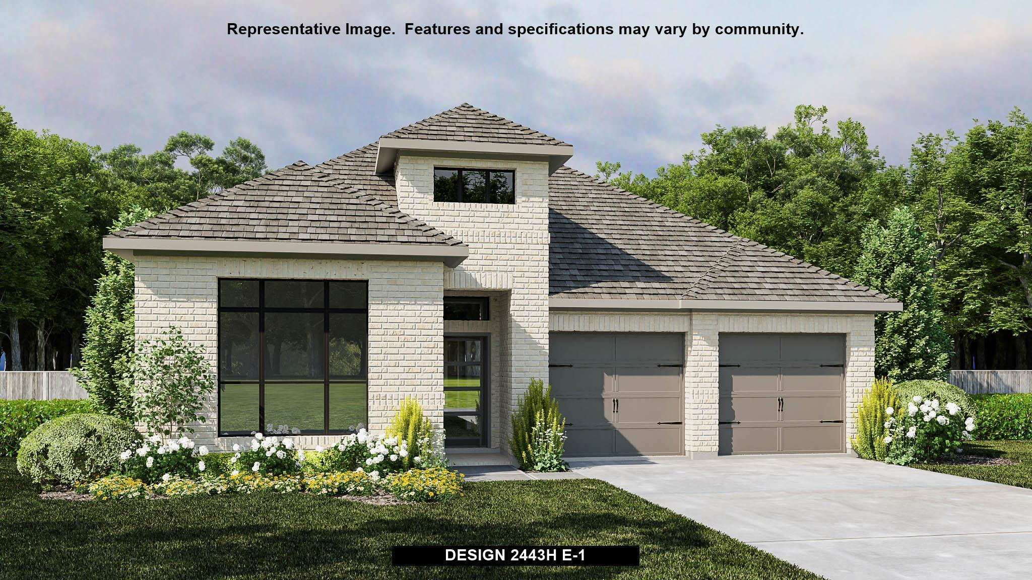 Exterior featured in the 2443H By Perry Homes in Dallas, TX