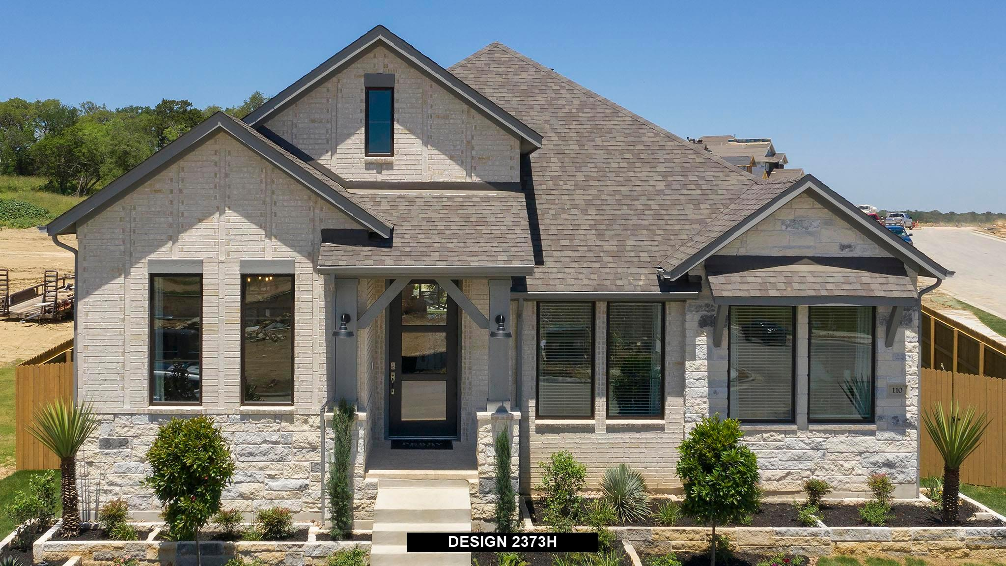 Exterior featured in the 2373H By Perry Homes in Dallas, TX
