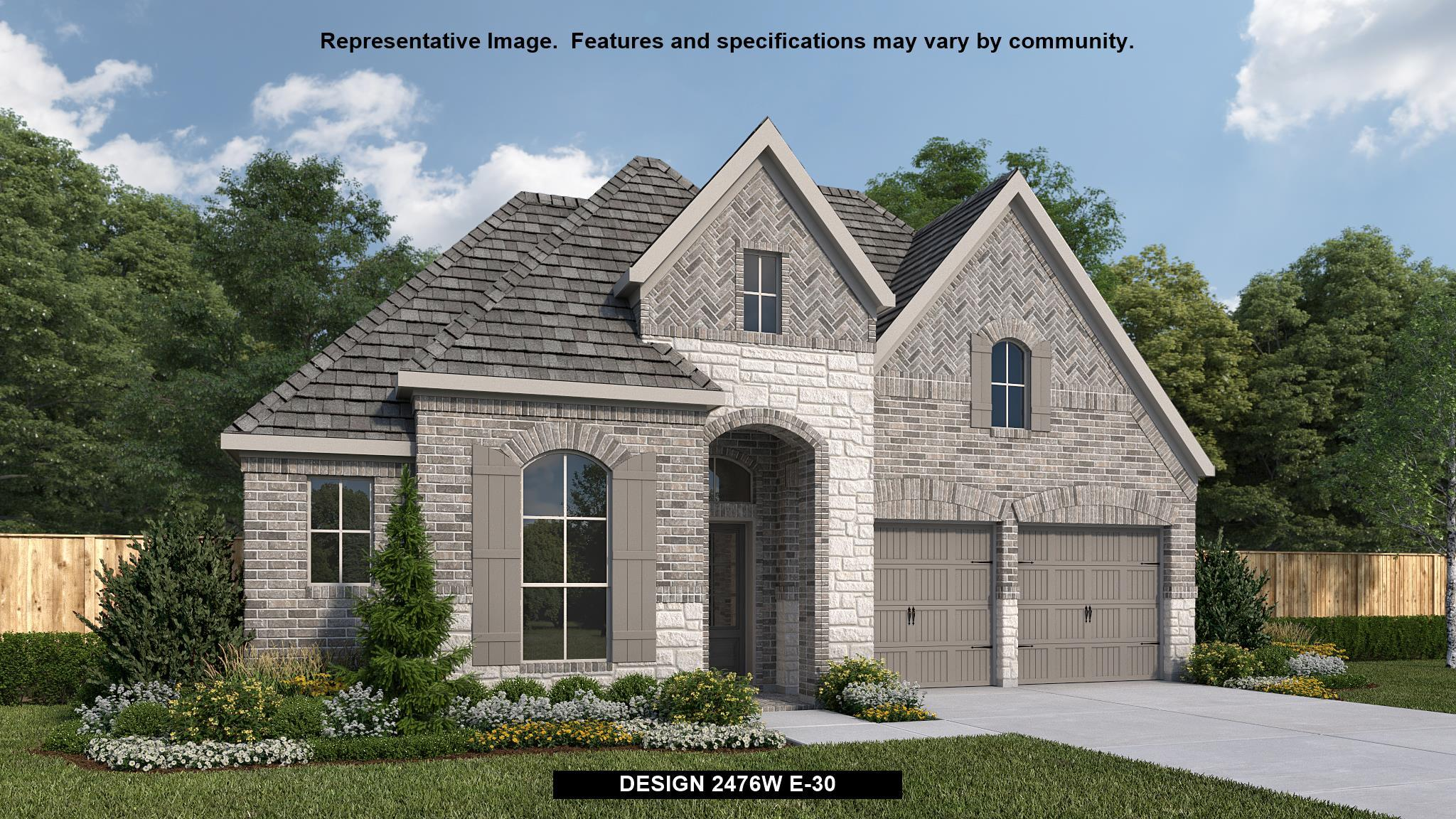 Exterior featured in the 2476W By Perry Homes in Dallas, TX