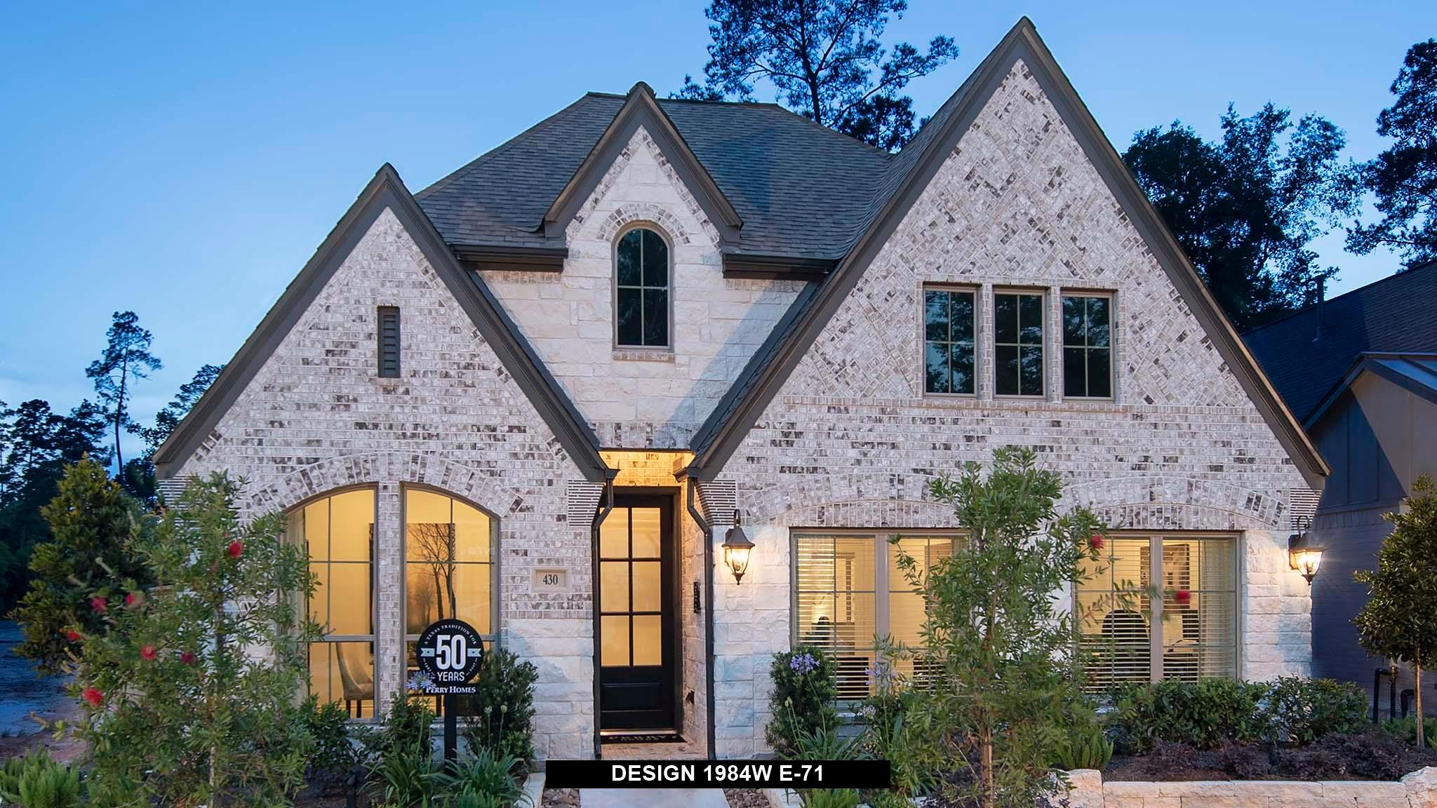 Exterior featured in the 1984W By Perry Homes in Houston, TX