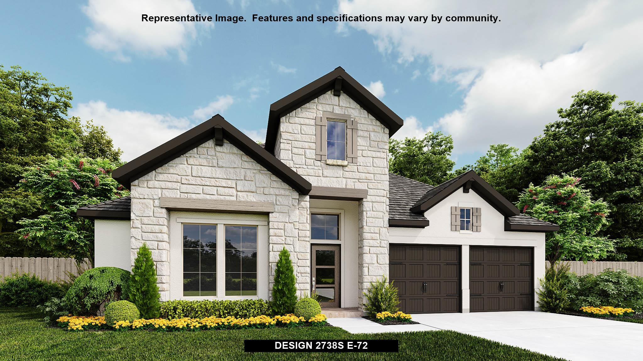 Exterior featured in the 2738S By Perry Homes in San Antonio, TX