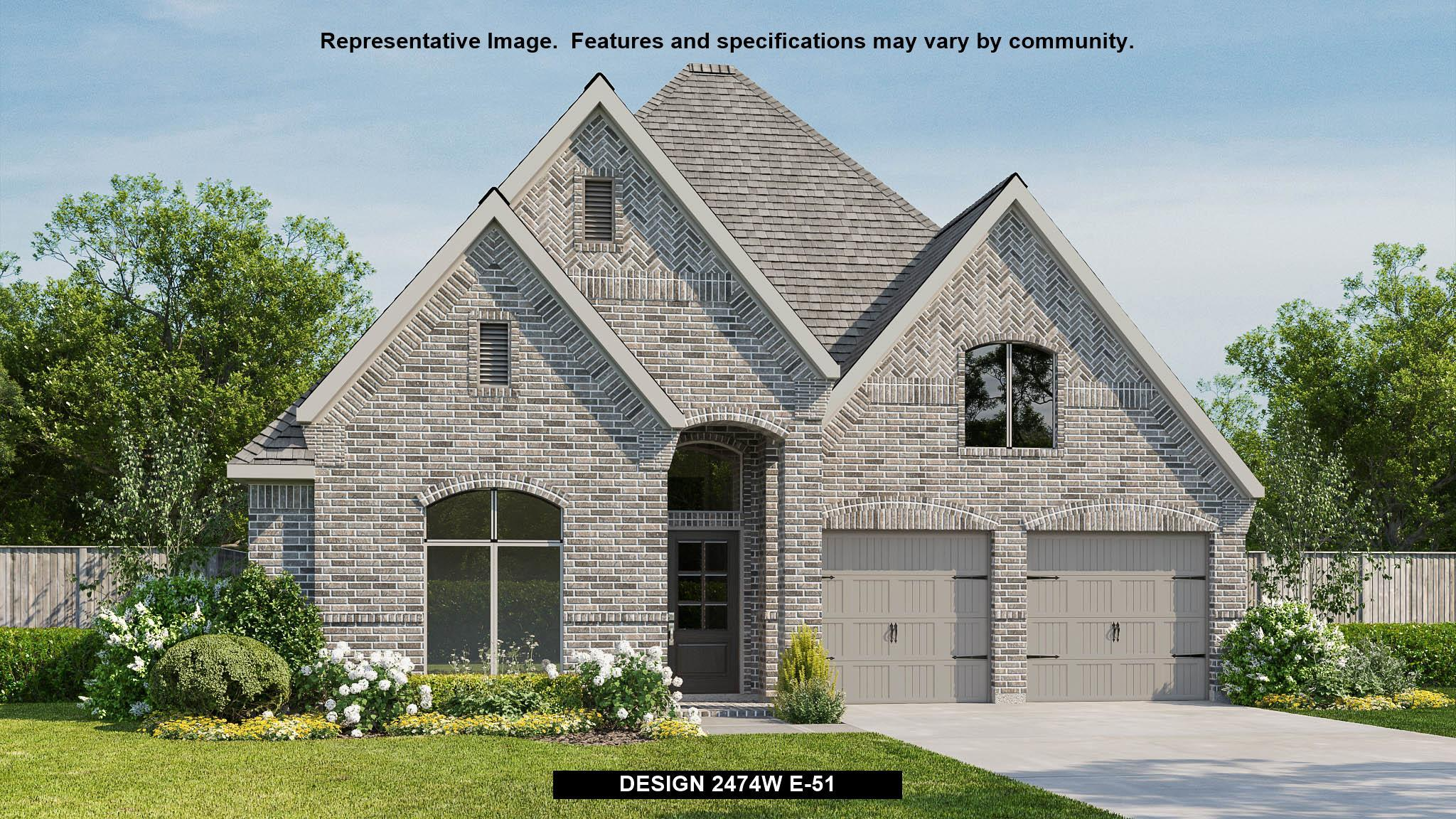 Exterior featured in the 2474W By Perry Homes in Dallas, TX
