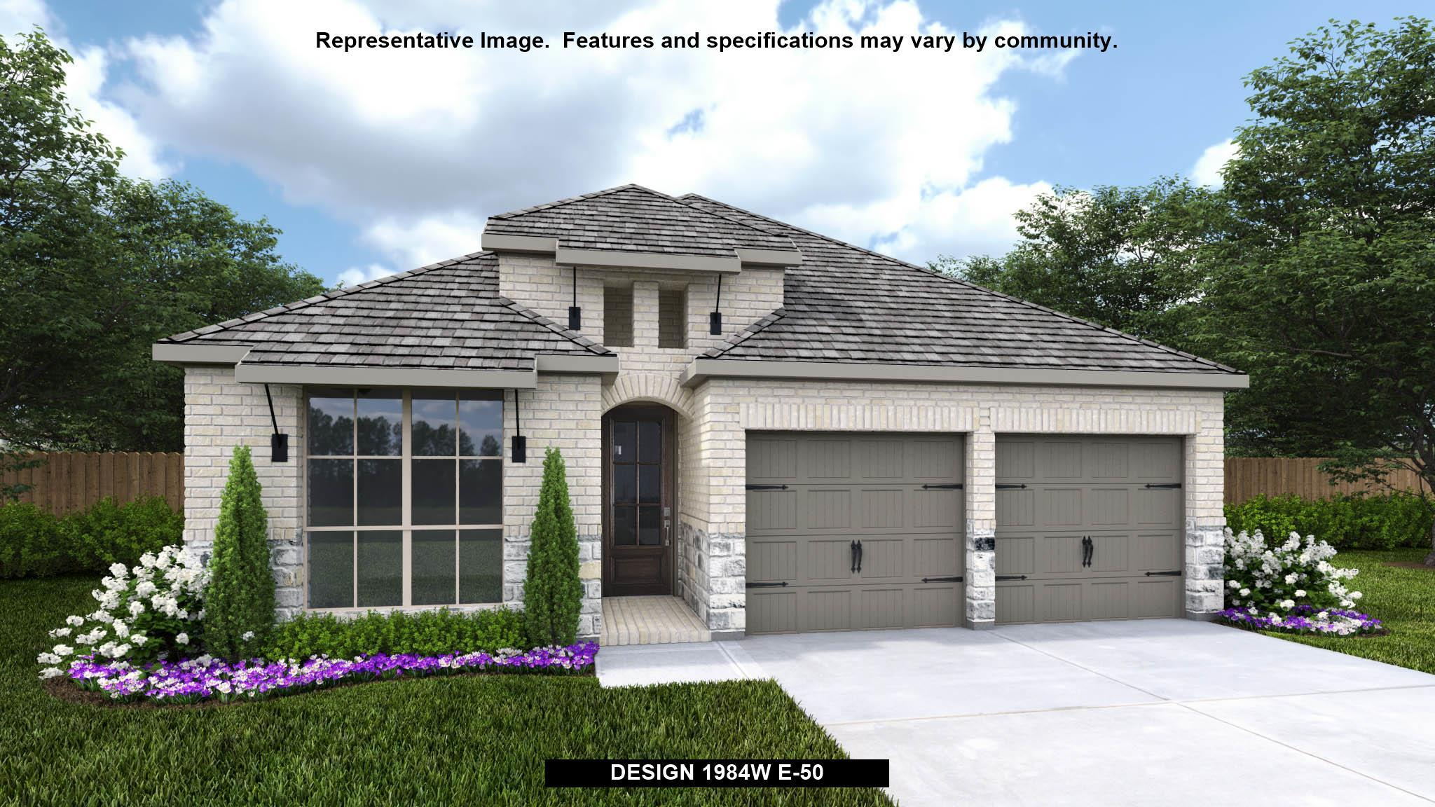 Exterior featured in the 1984W By Perry Homes in San Antonio, TX