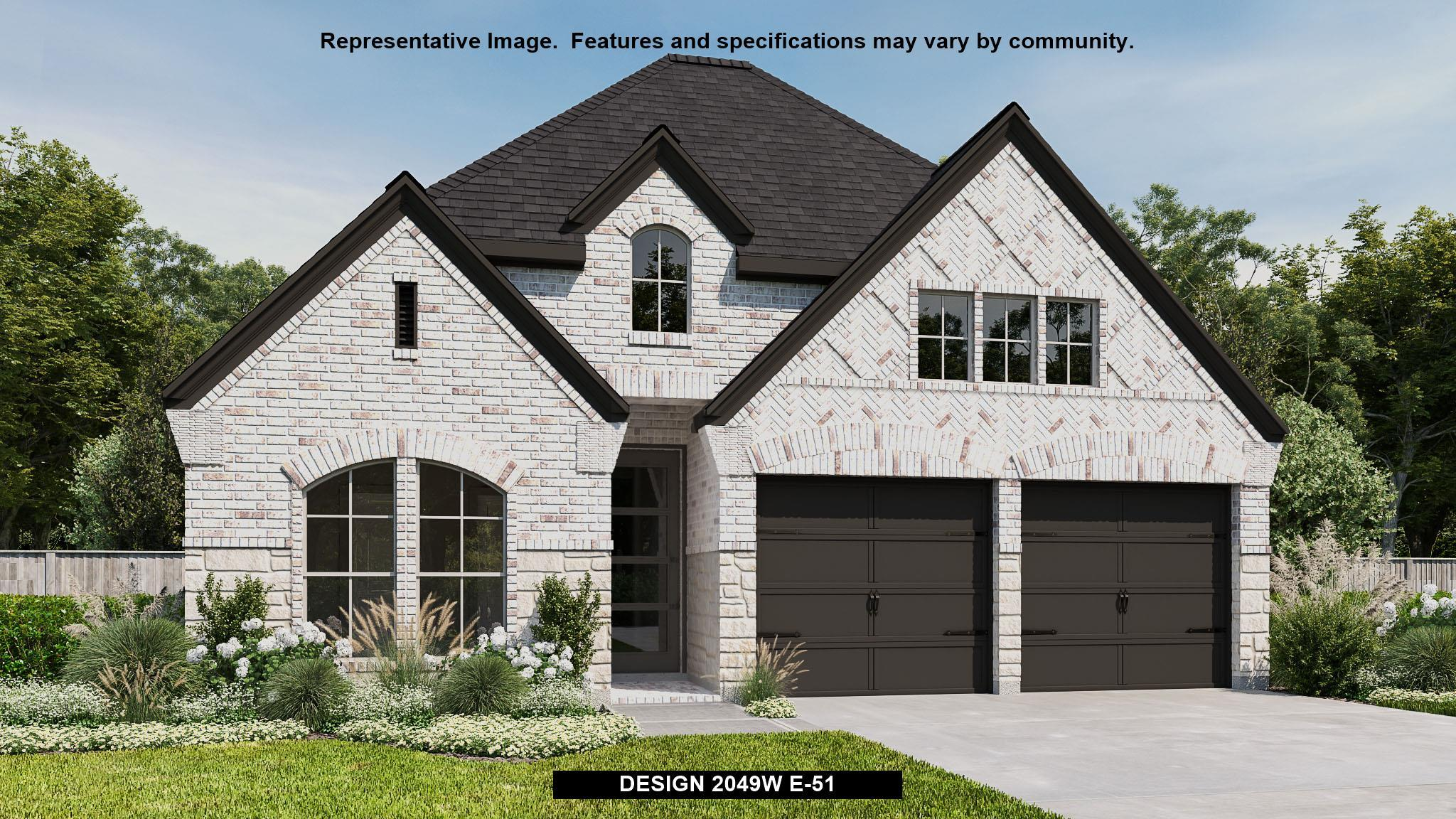 Exterior featured in the 2049W By Perry Homes in Houston, TX