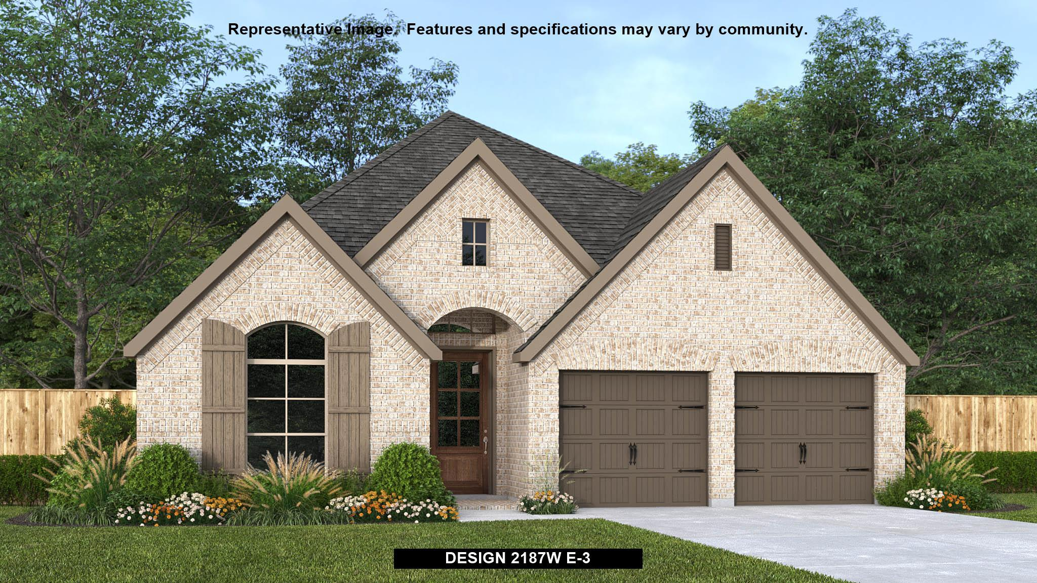 Exterior featured in the 2187W By Perry Homes in San Antonio, TX