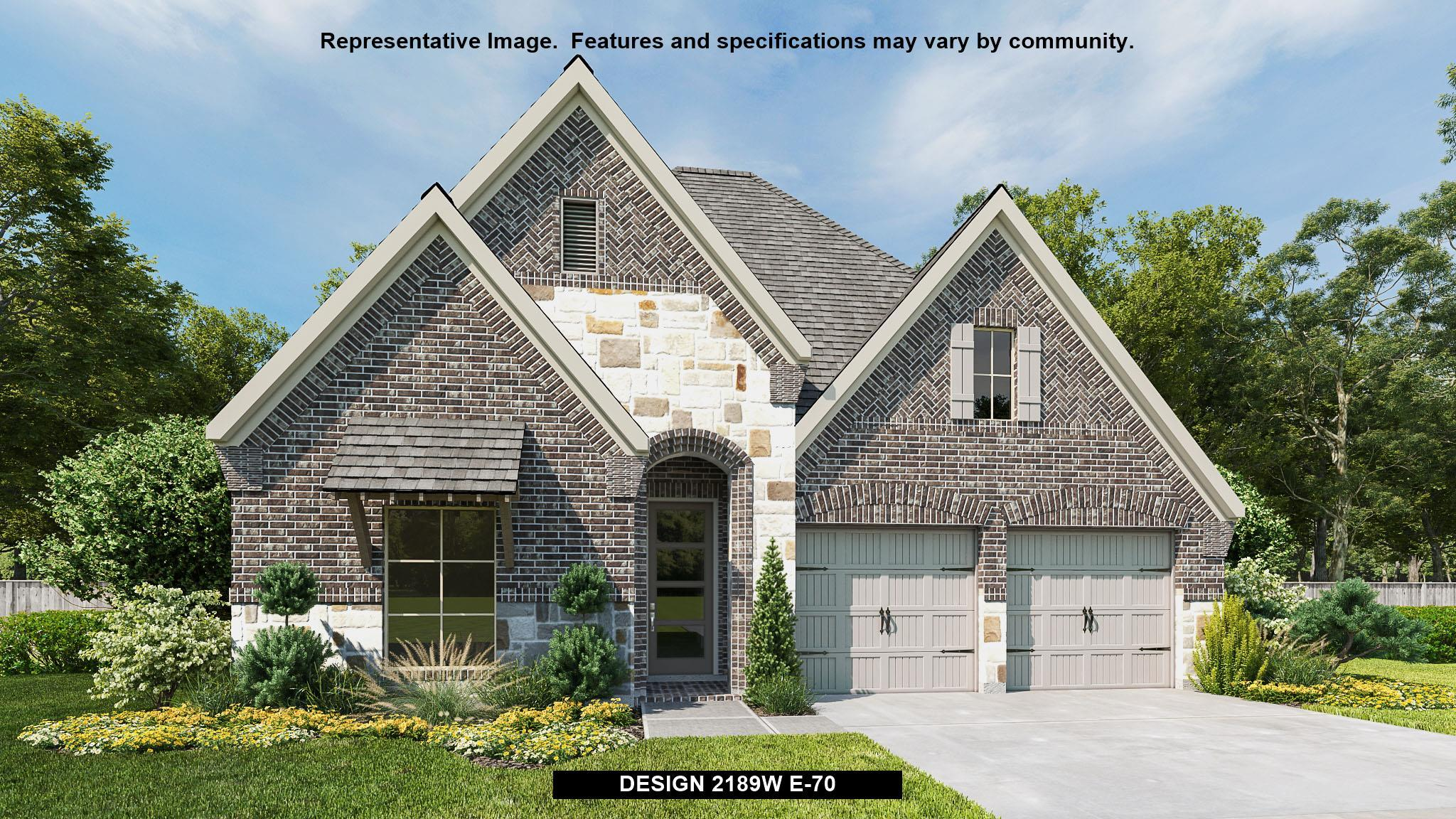 Exterior featured in the 2189W By Perry Homes in Houston, TX