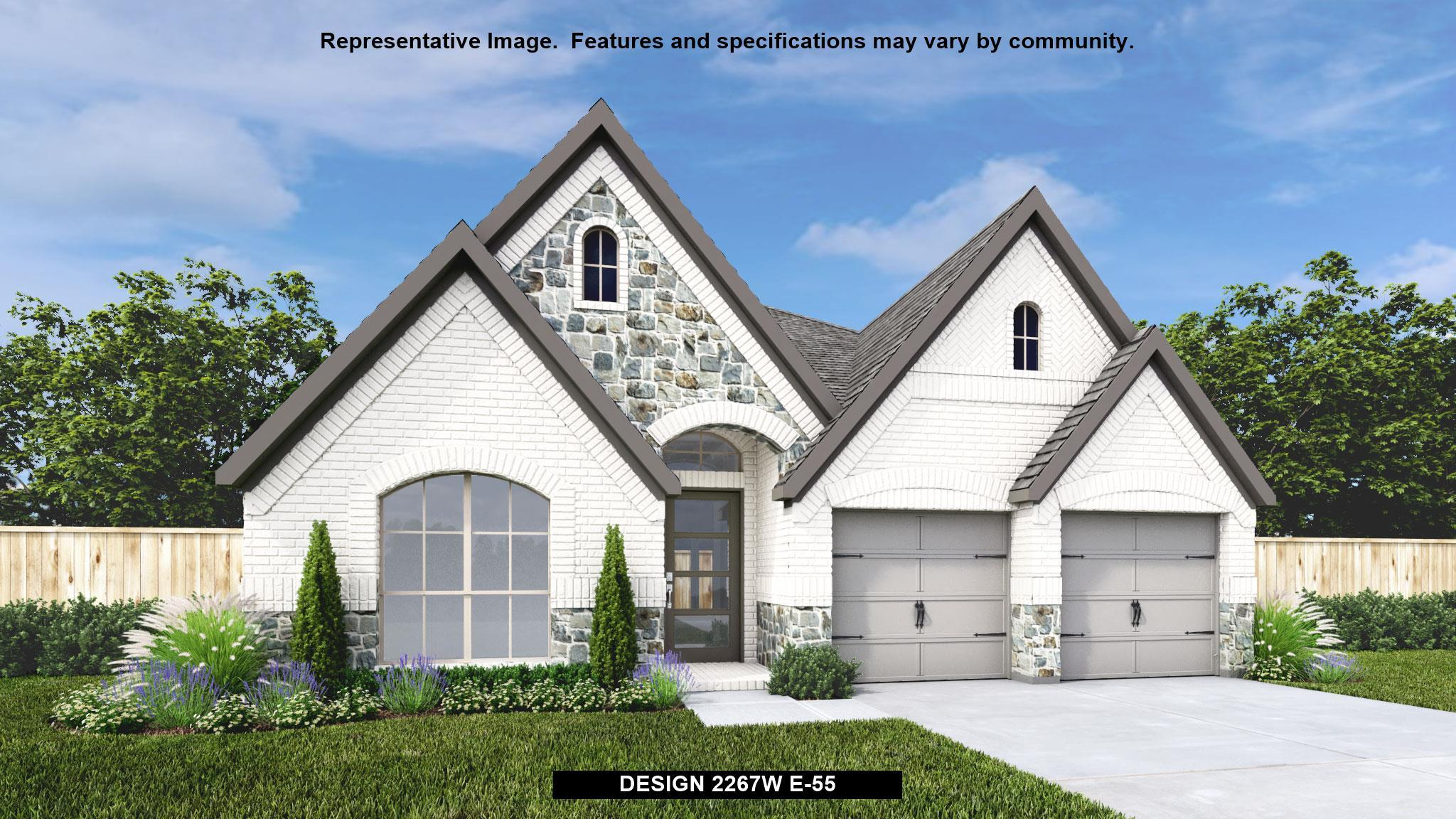 Exterior featured in the 2267W By Perry Homes in Houston, TX