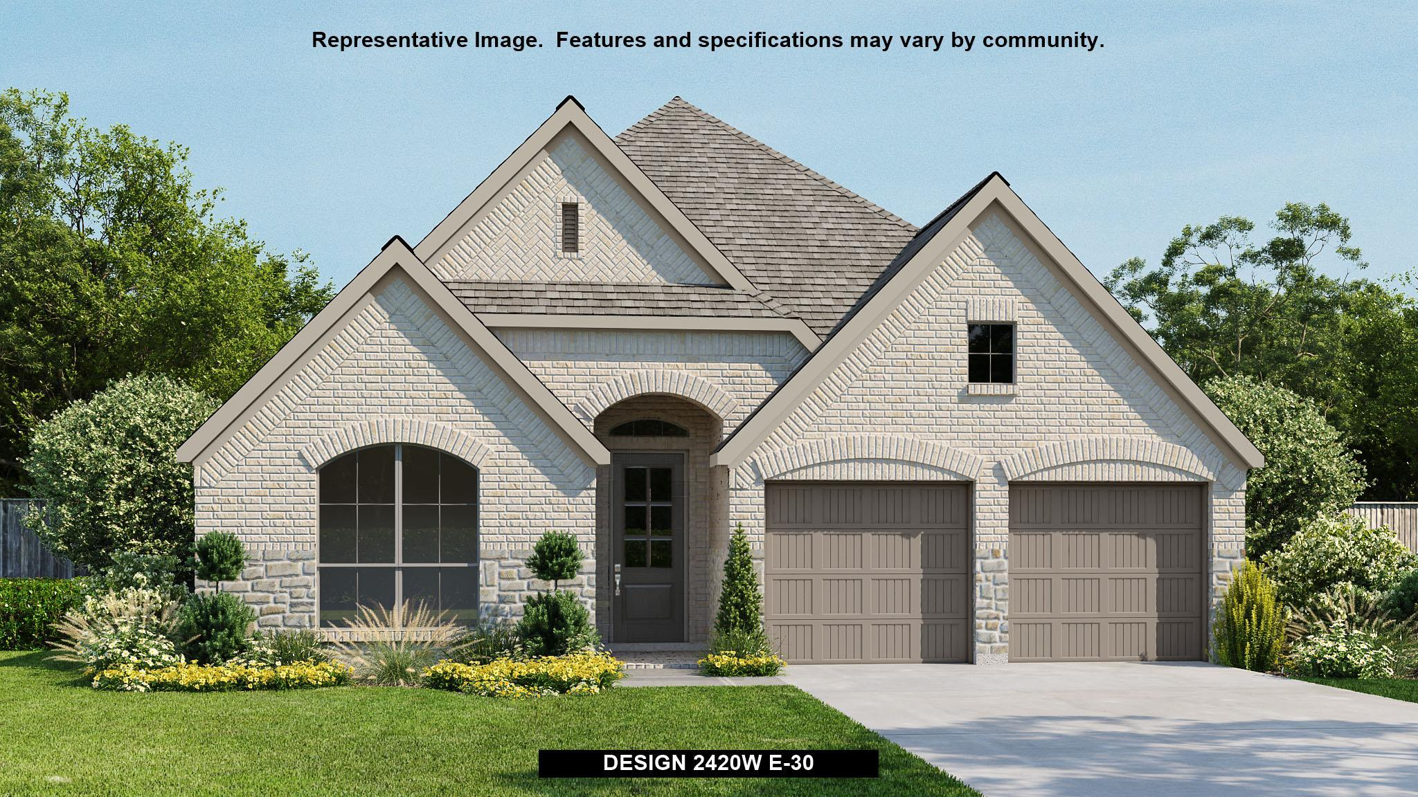Exterior featured in the 2420W By Perry Homes in Houston, TX