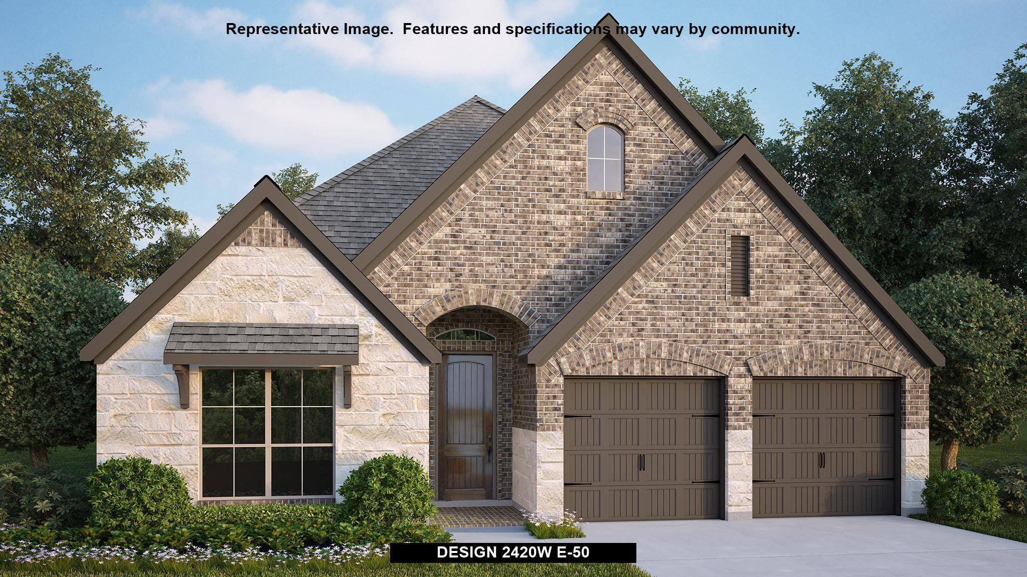 Exterior featured in the 2420W By Perry Homes in San Antonio, TX