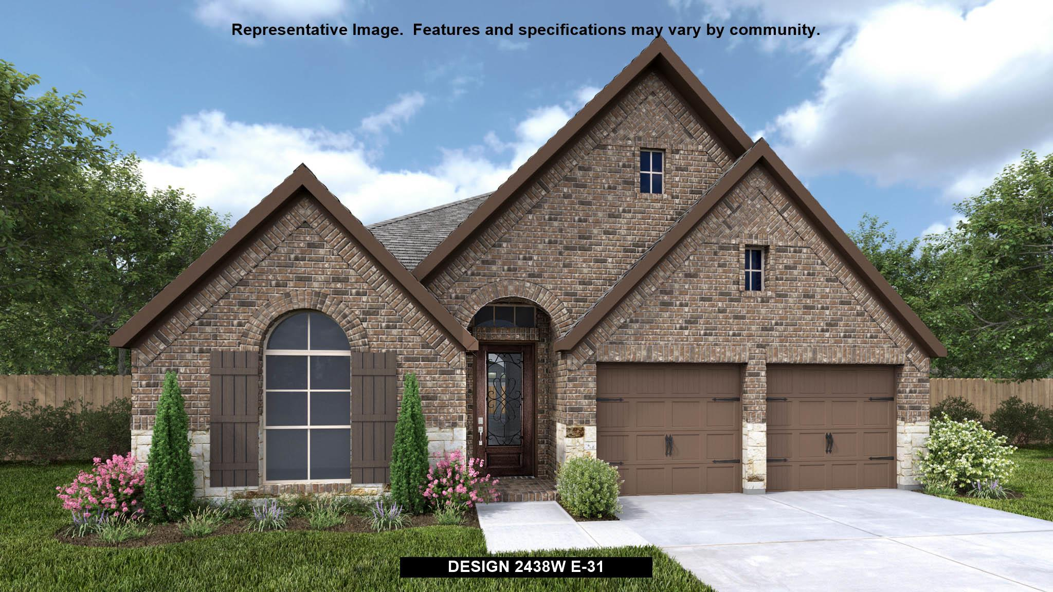 Exterior featured in the 2438W By Perry Homes in Houston, TX