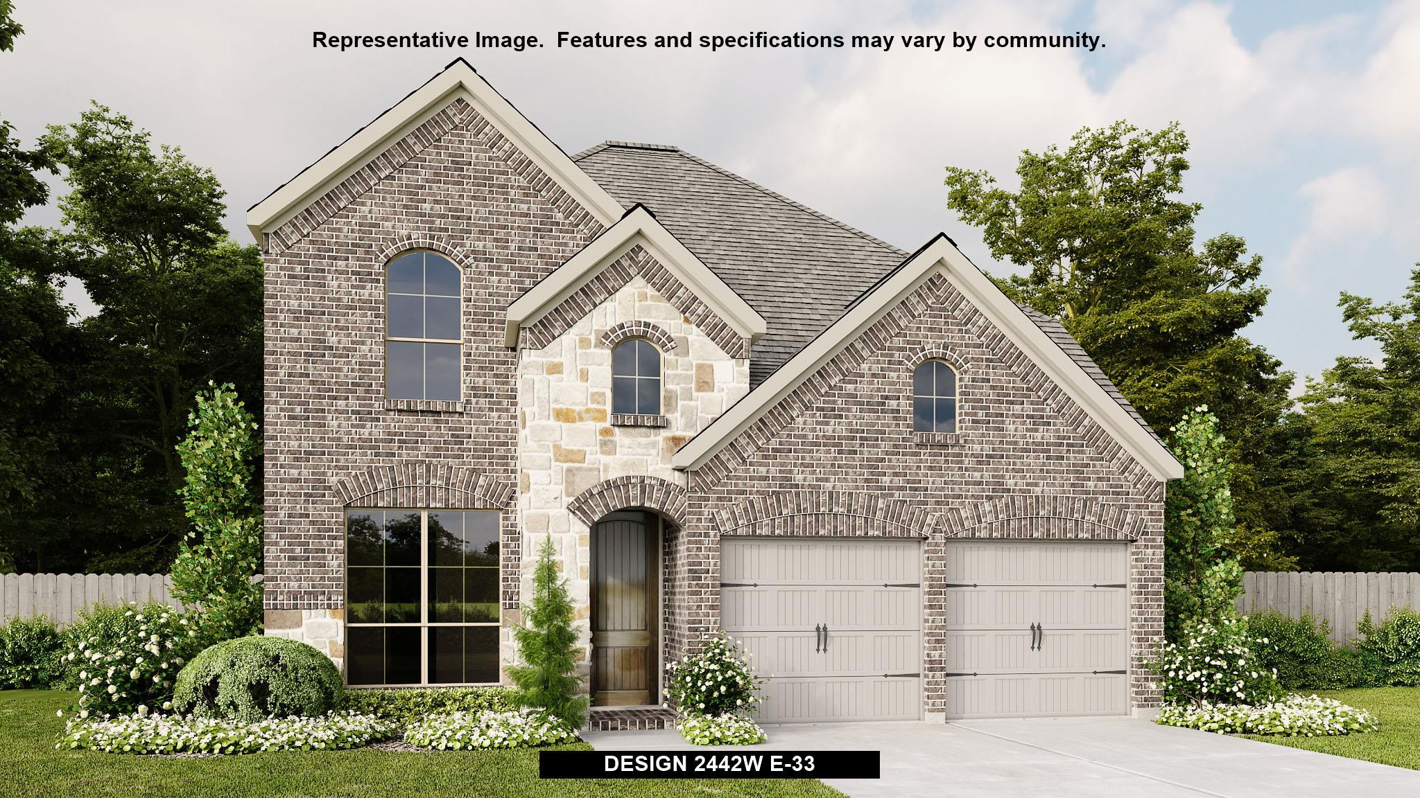 Exterior featured in the 2442W By Perry Homes in Houston, TX