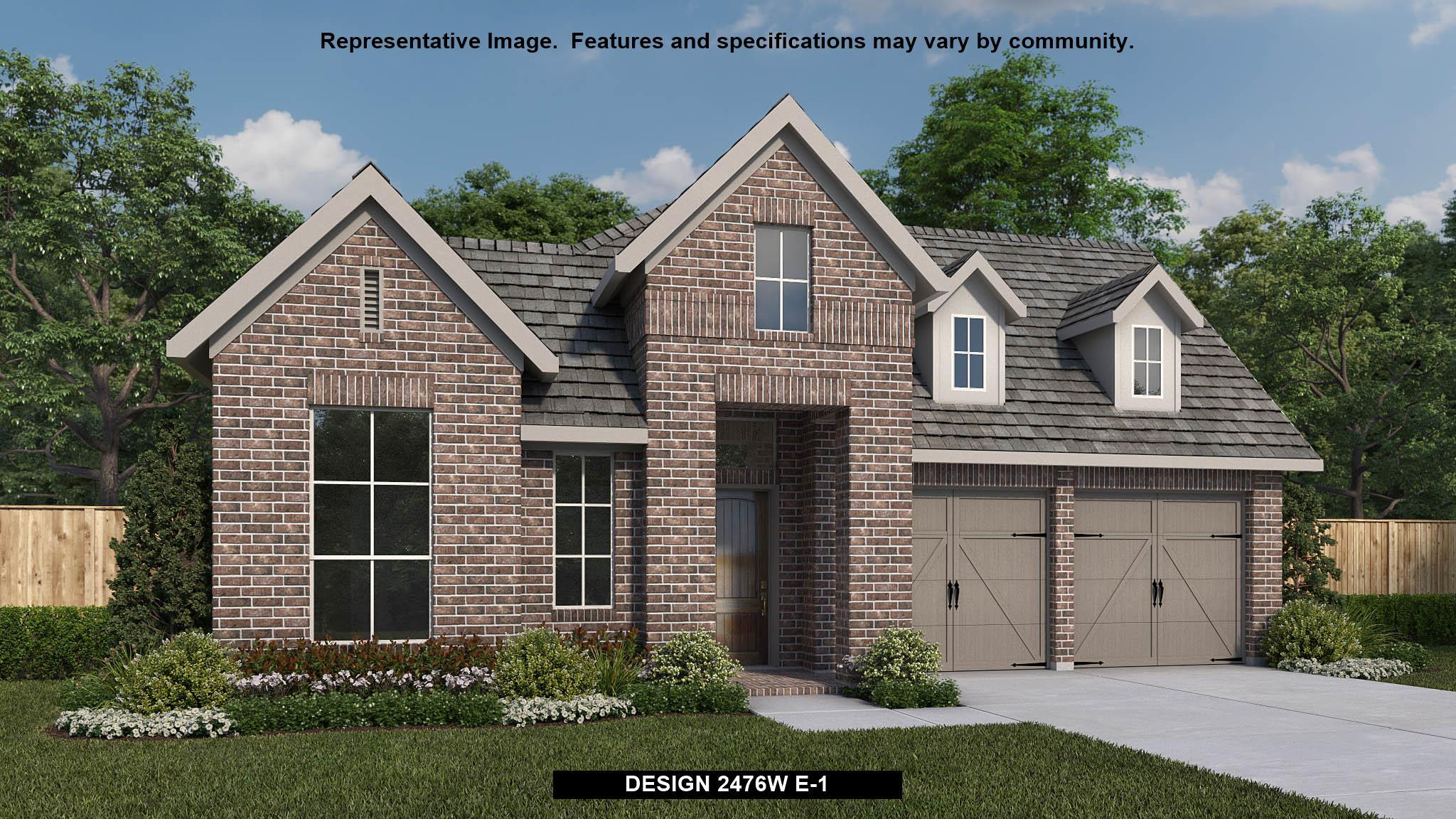 Exterior featured in the 2476W By Perry Homes in Houston, TX