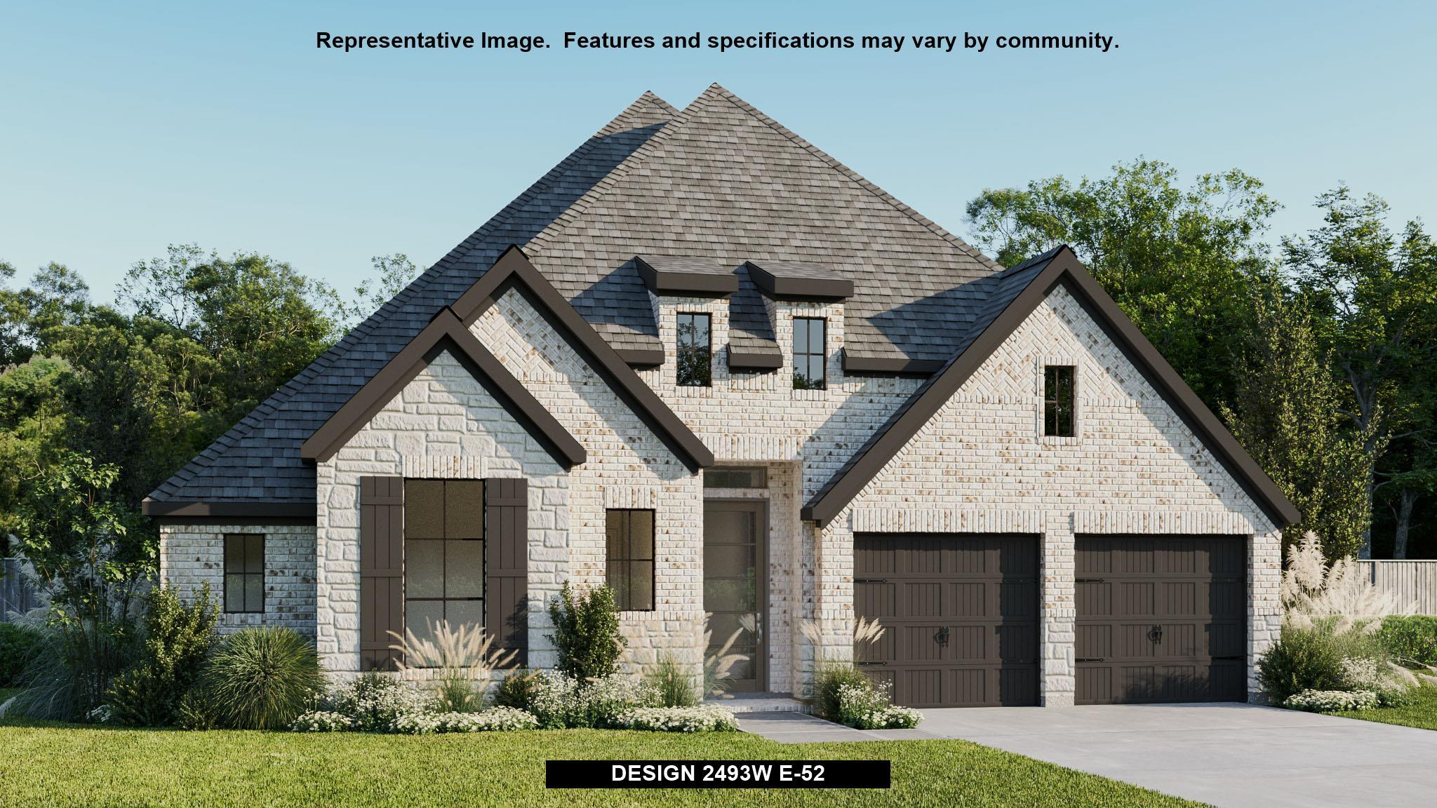 Exterior featured in the 2493W By Perry Homes in San Antonio, TX