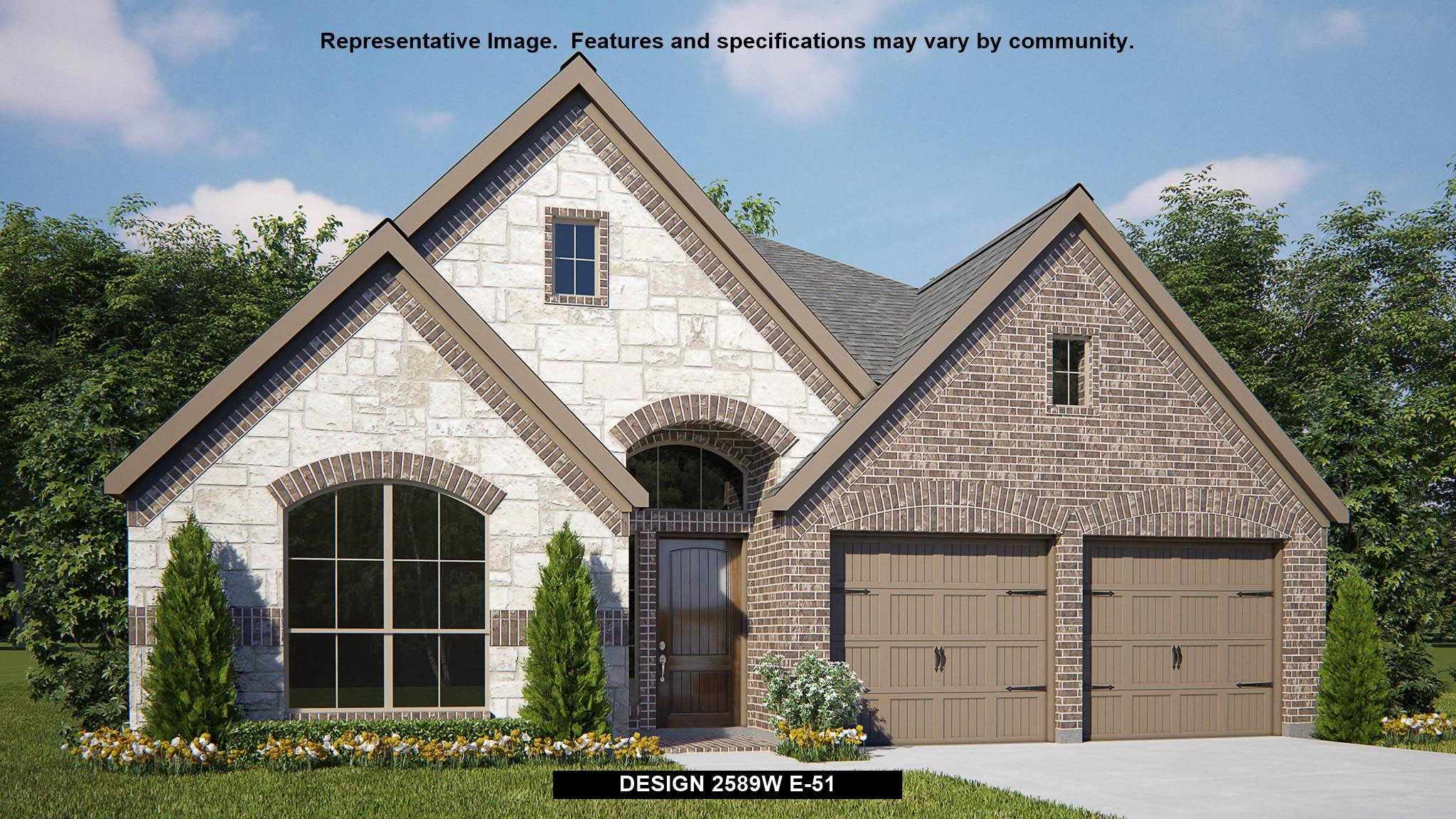 Exterior featured in the 2589W By Perry Homes in San Antonio, TX