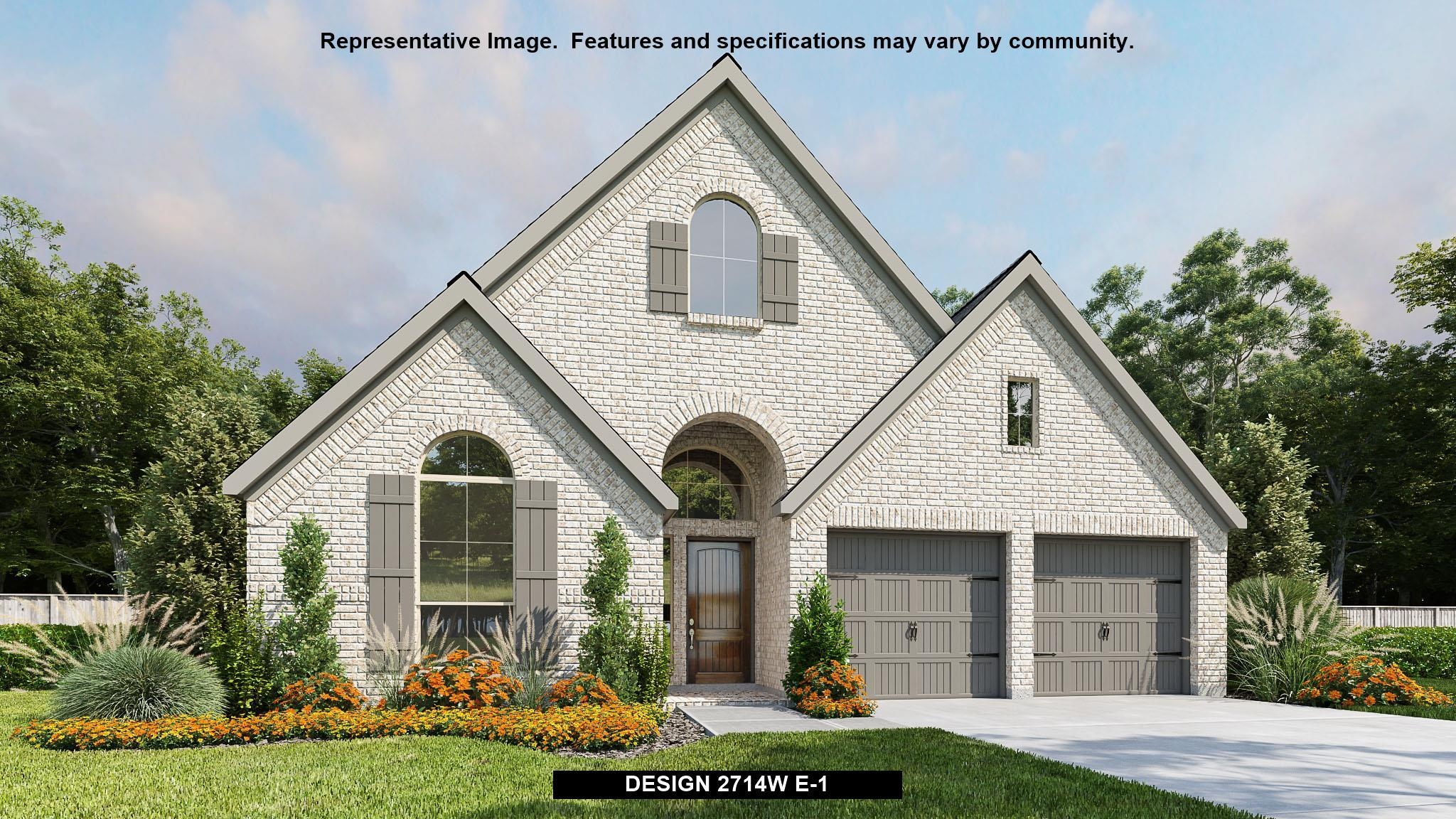 Exterior featured in the 2714W By Perry Homes in Houston, TX