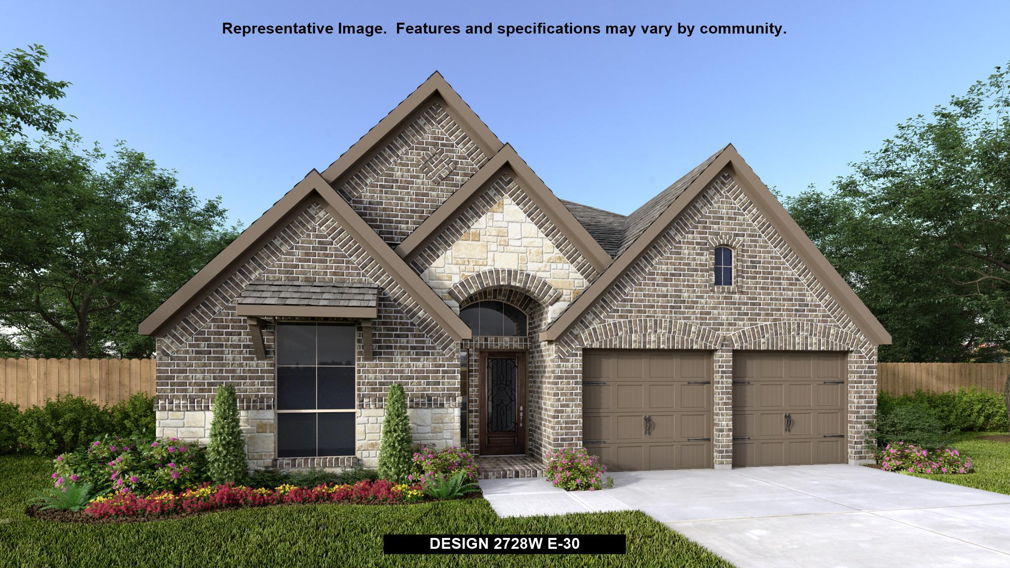 Exterior featured in the 2728W By Perry Homes in Houston, TX