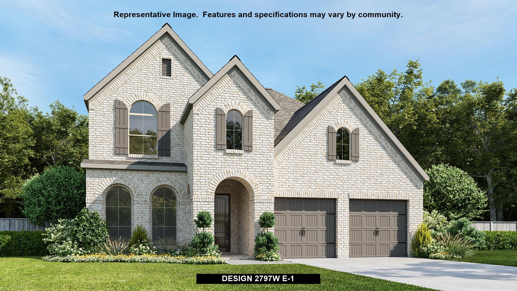 Exterior featured in the 2797W By Perry Homes in Houston, TX