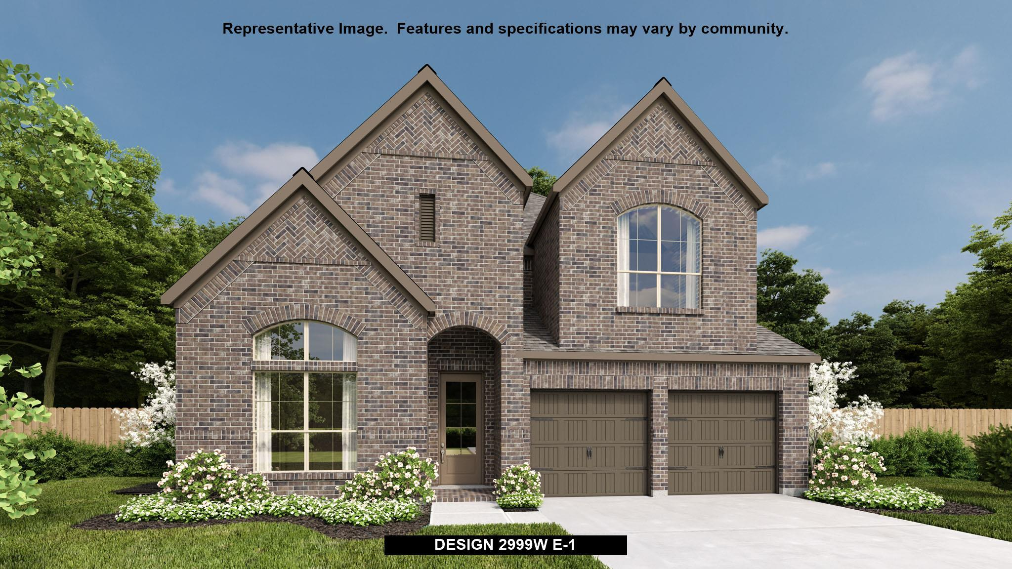 Exterior featured in the 2999W By Perry Homes in Houston, TX