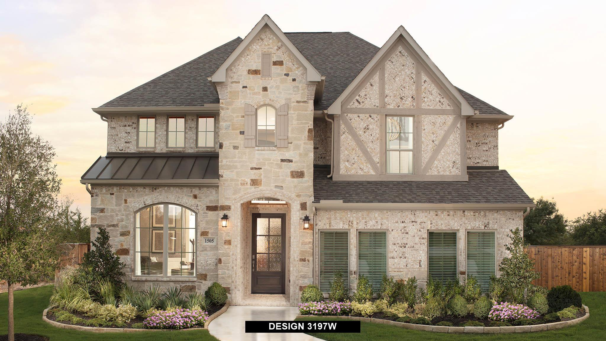 Exterior featured in the 3197W By Perry Homes in Houston, TX