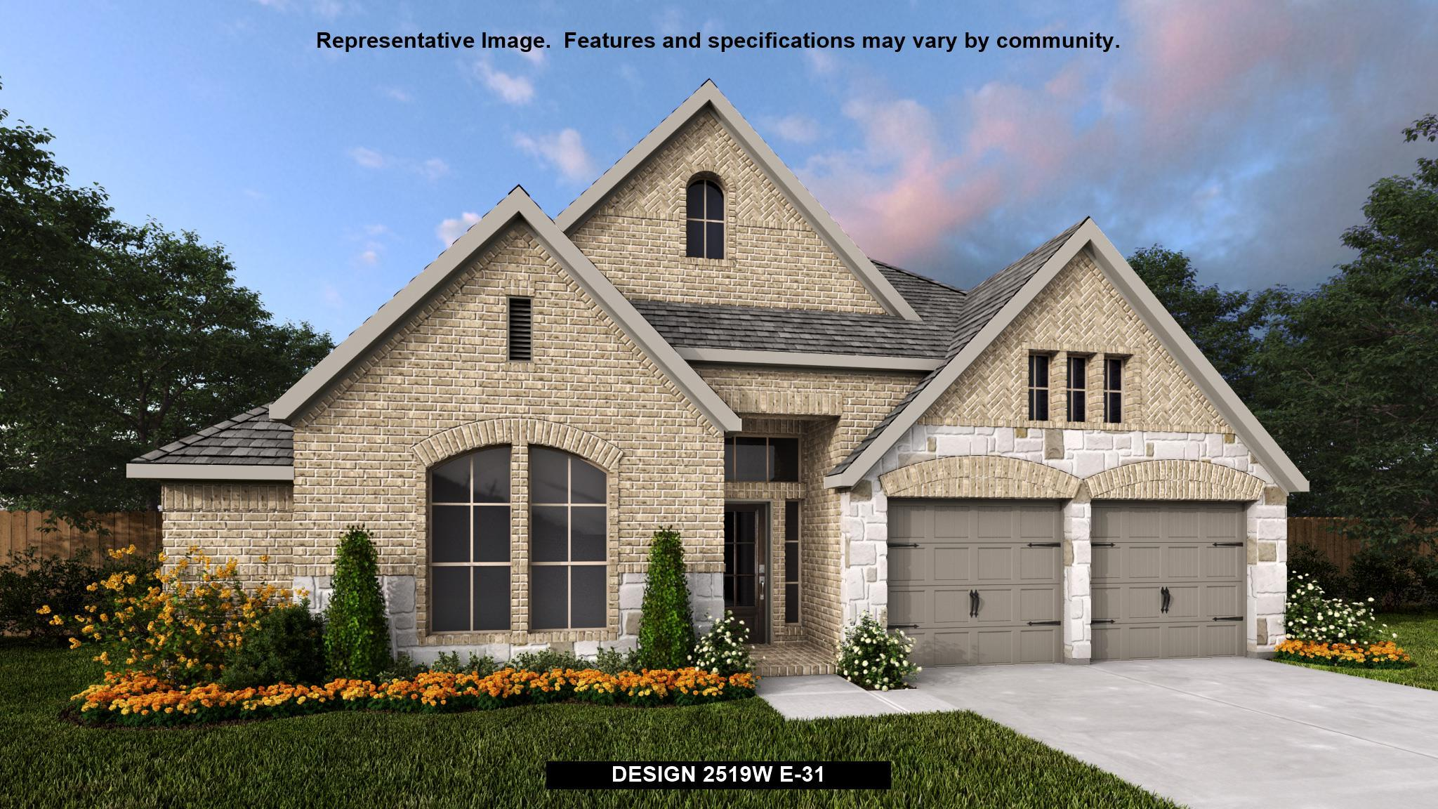 Exterior featured in the 2519W By Perry Homes in San Antonio, TX