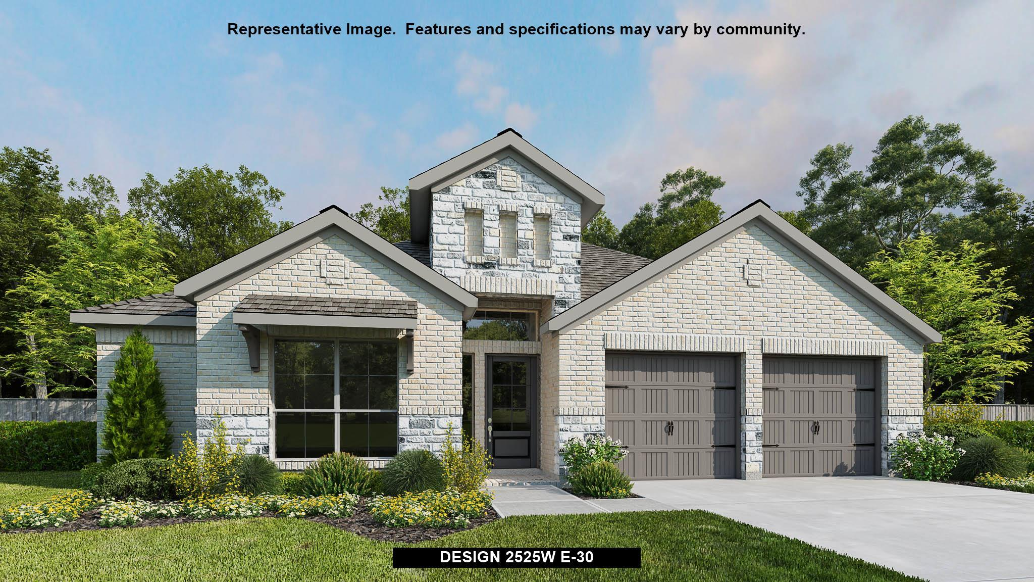 Exterior featured in the 2525W By Perry Homes in San Antonio, TX