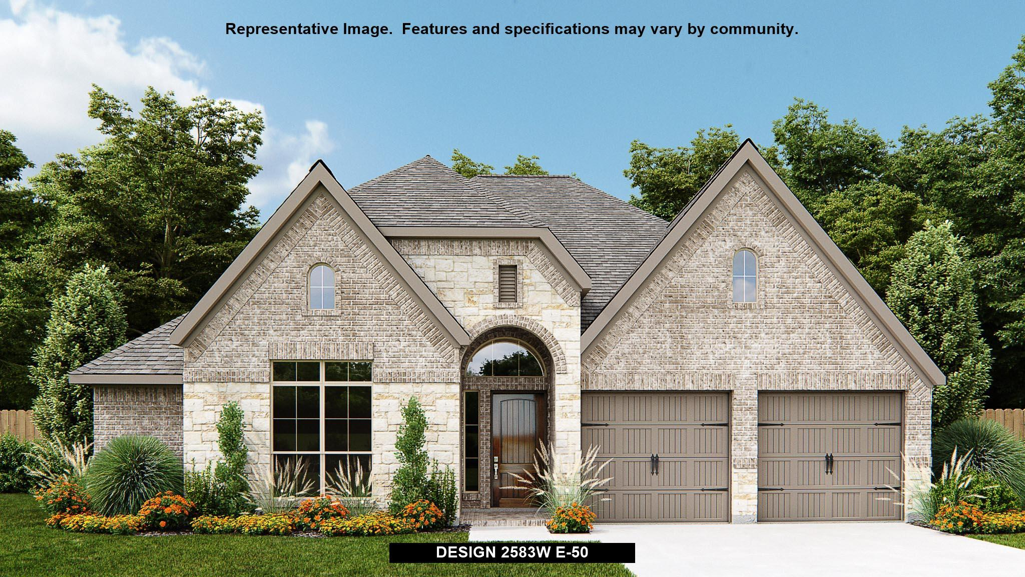 Exterior featured in the 2583W By Perry Homes in San Antonio, TX