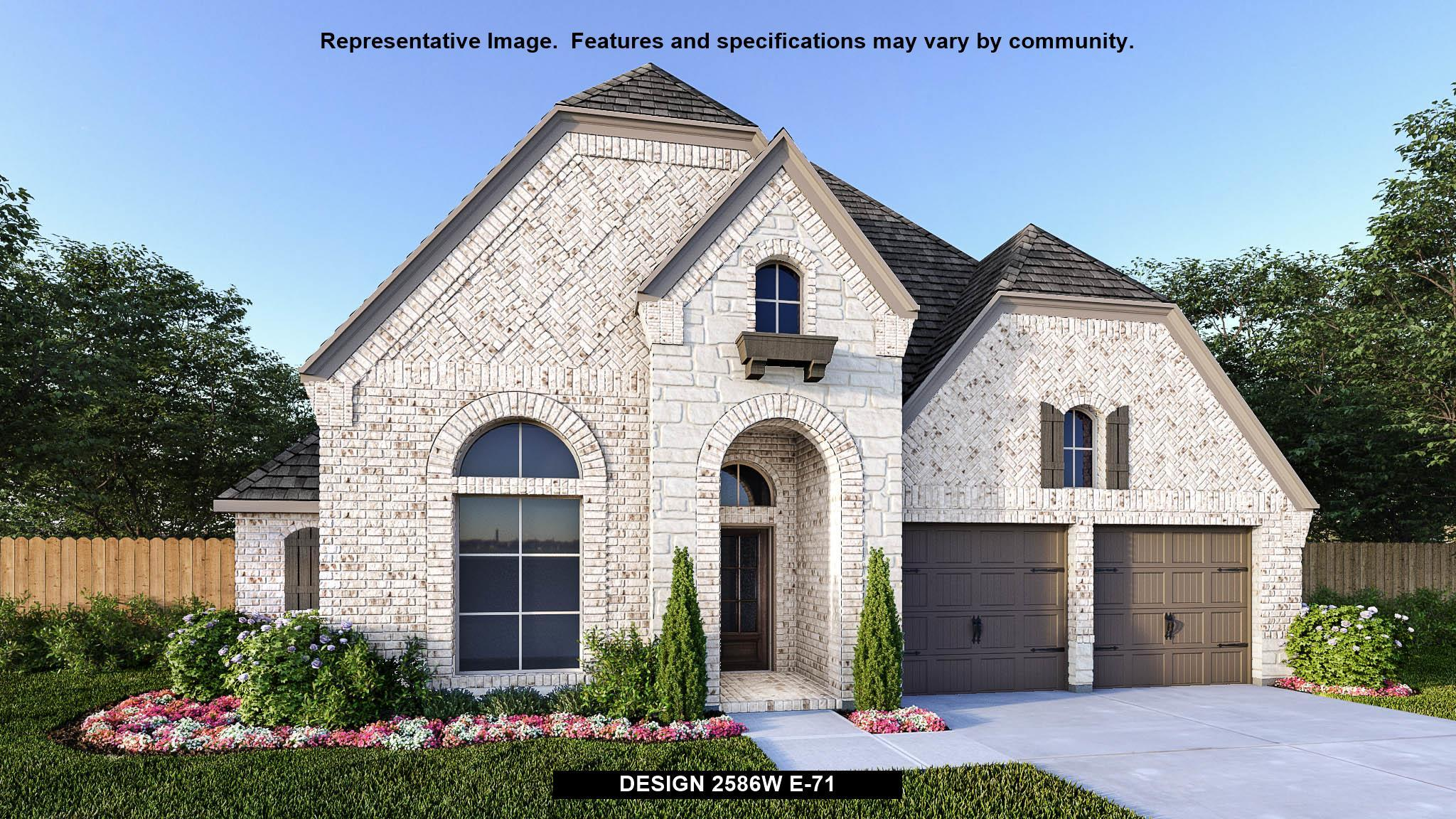 Exterior featured in the 2586W By Perry Homes in San Antonio, TX