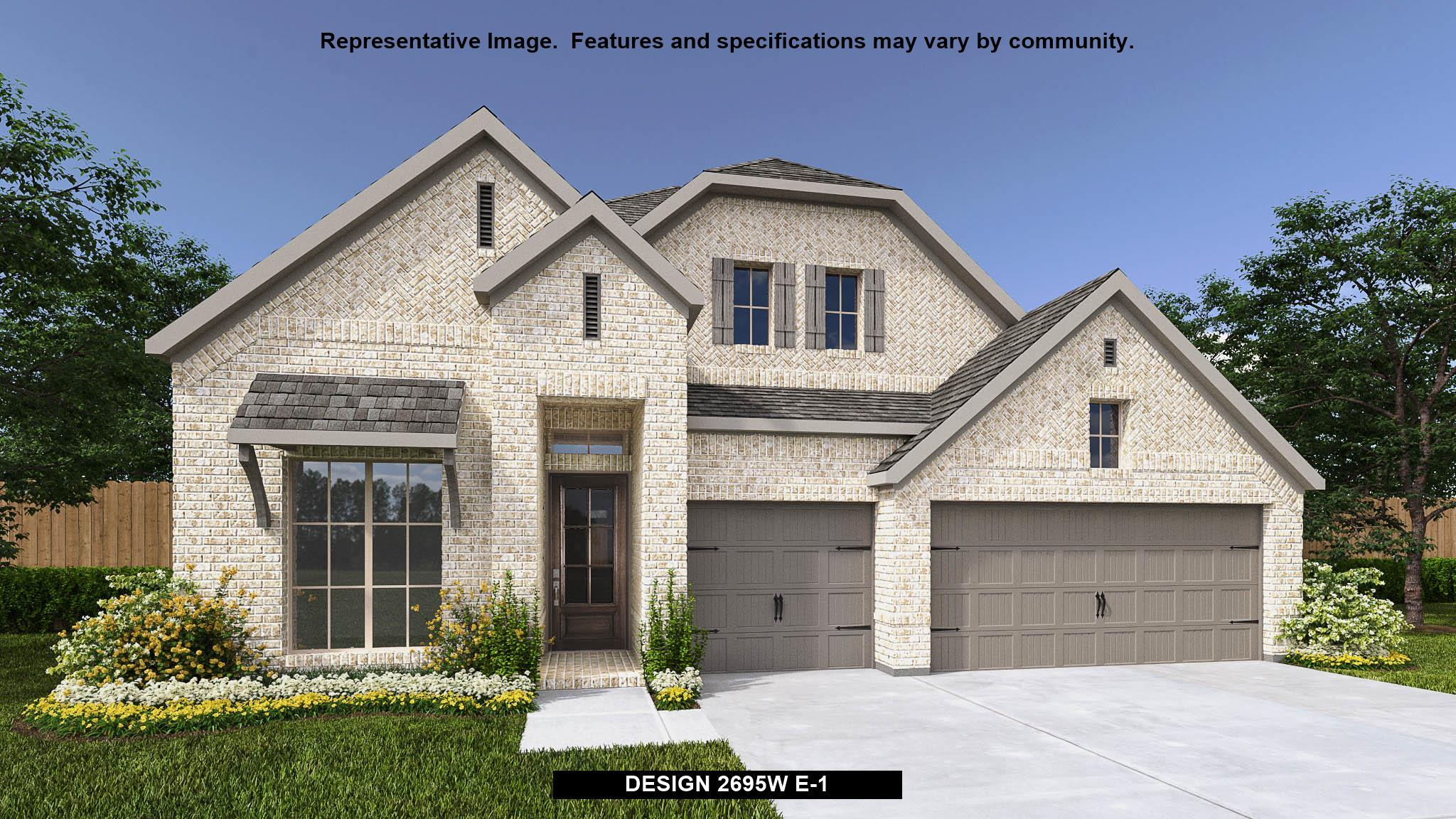 Exterior featured in the 2695W By Perry Homes in San Antonio, TX