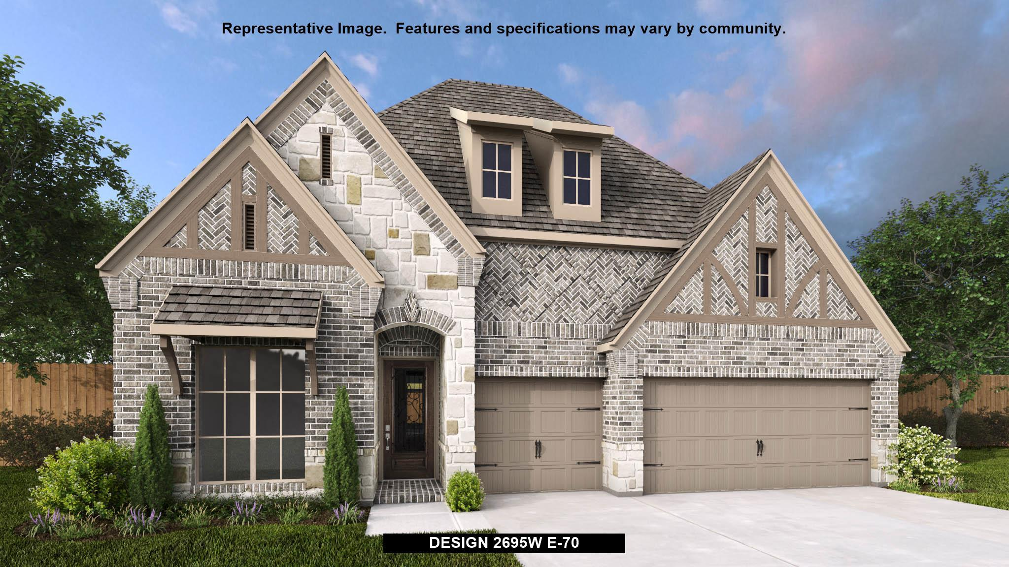 Exterior featured in the 2695W By Perry Homes in Houston, TX