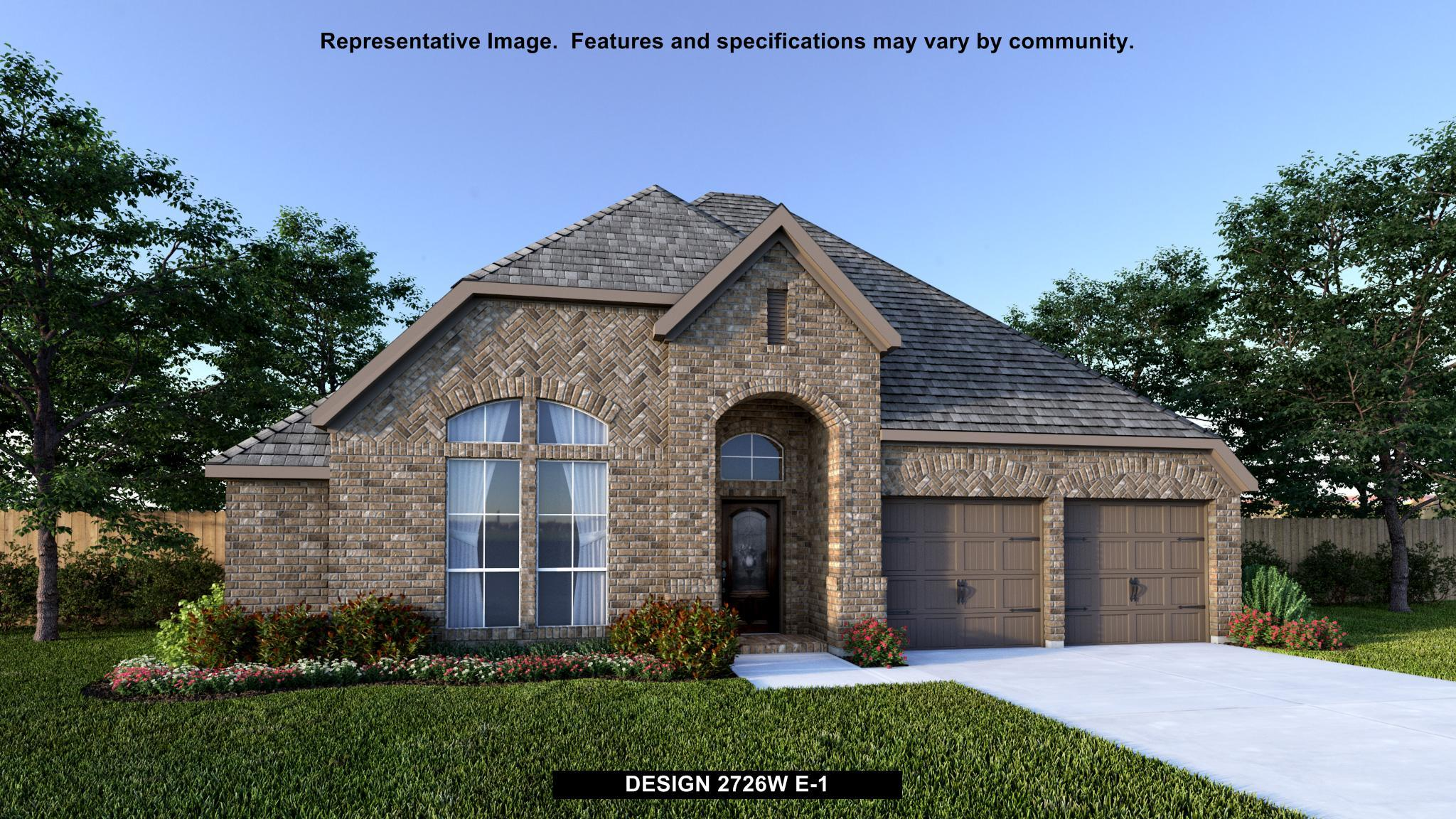 Exterior featured in the 2726W By Perry Homes in Austin, TX