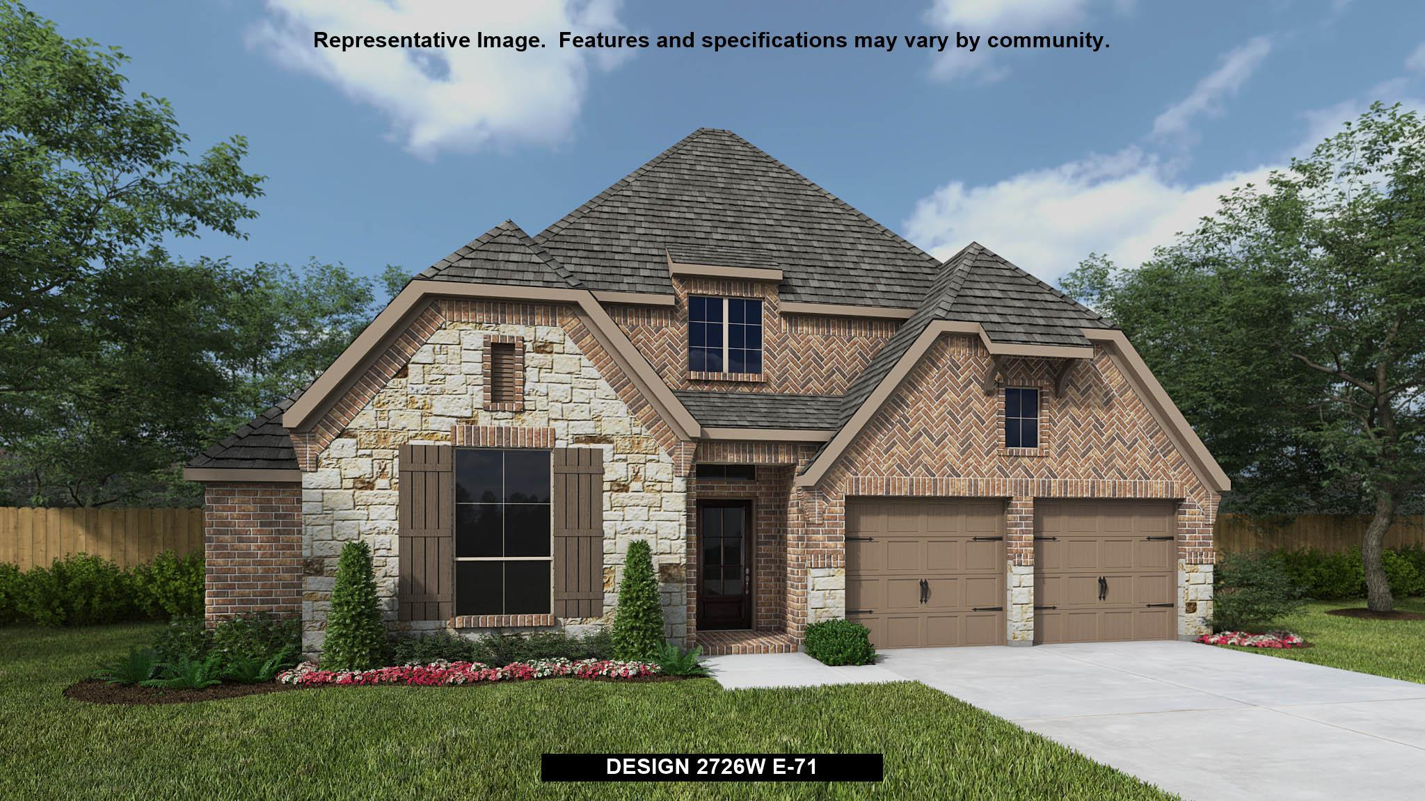 Exterior featured in the 2726W By Perry Homes in San Antonio, TX