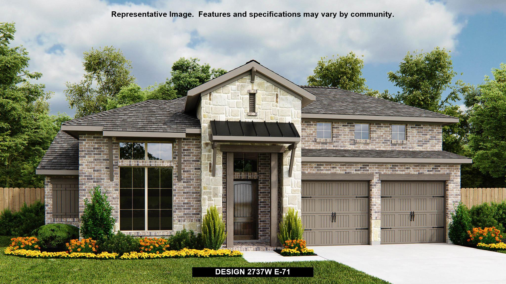 Exterior featured in the 2737W By Perry Homes in Houston, TX