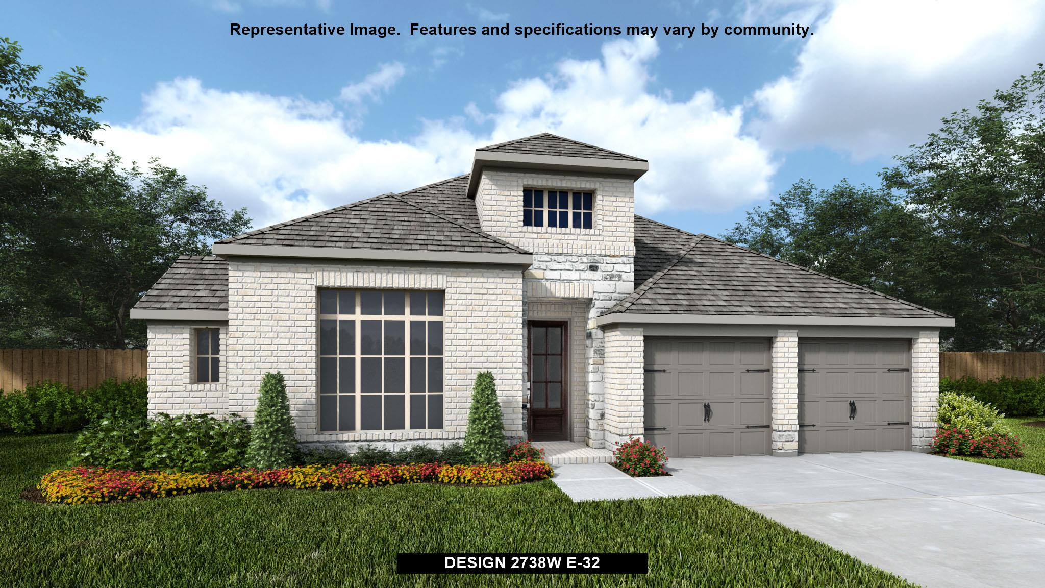 Exterior featured in the 2738W By Perry Homes in Houston, TX