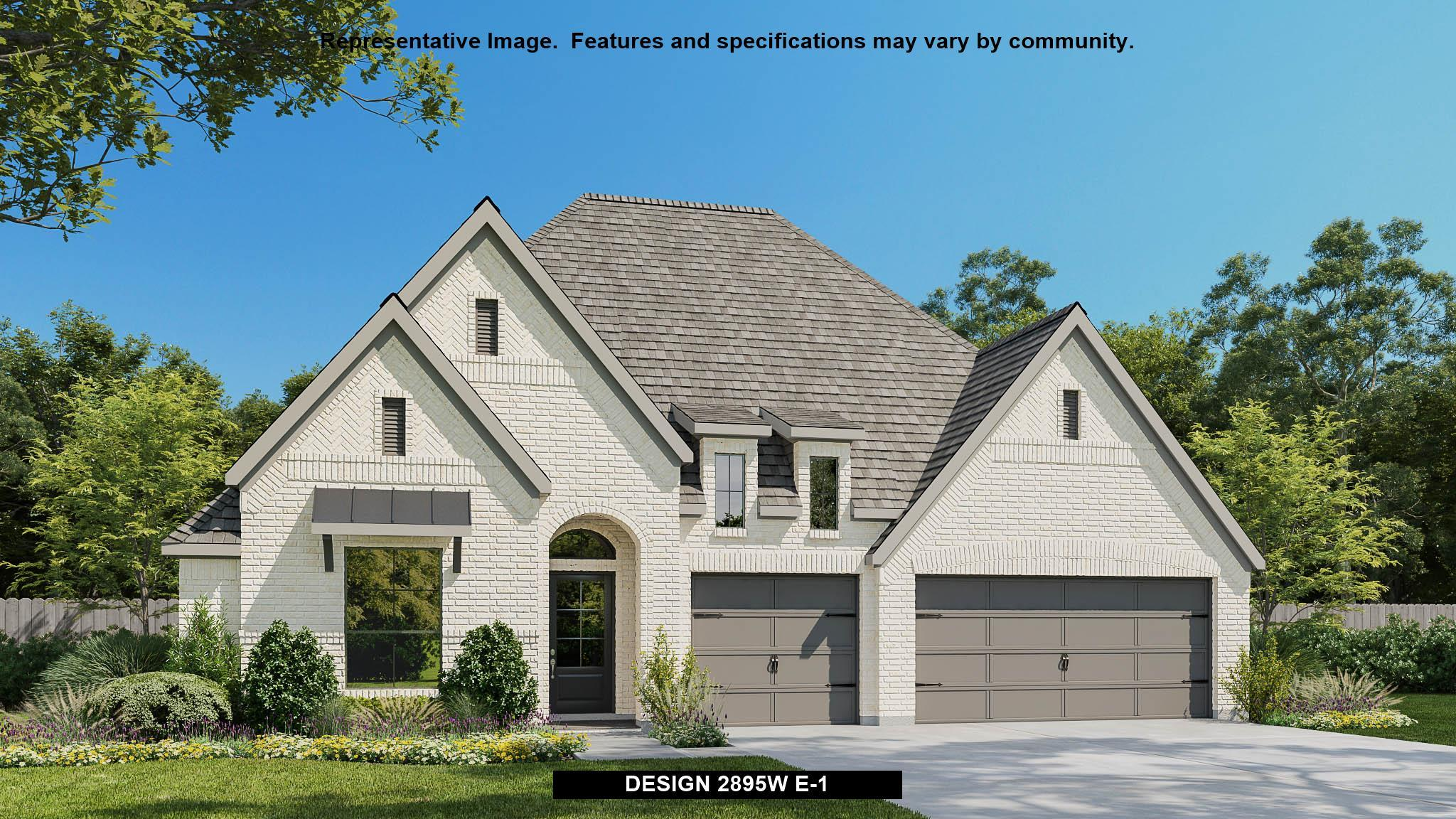 Exterior featured in the 2895W By Perry Homes in Dallas, TX