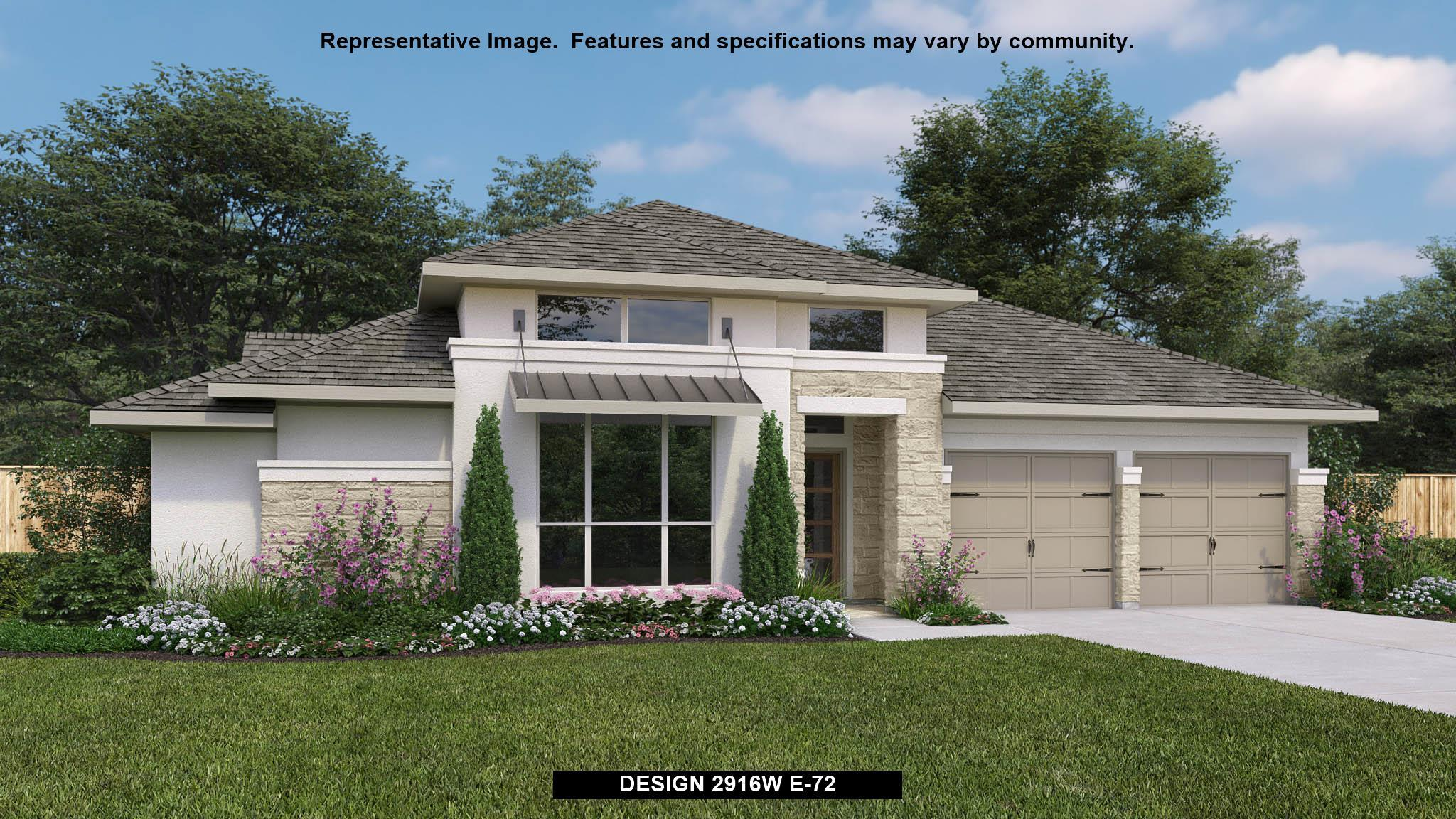 Exterior featured in the 2916W By Perry Homes in Houston, TX