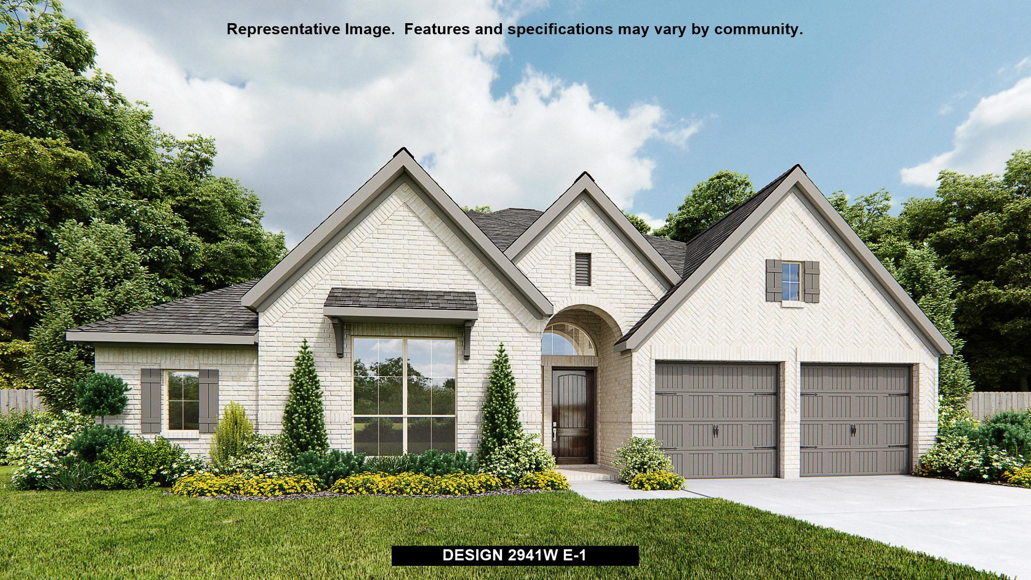 Exterior featured in the 2941W By Perry Homes in San Antonio, TX