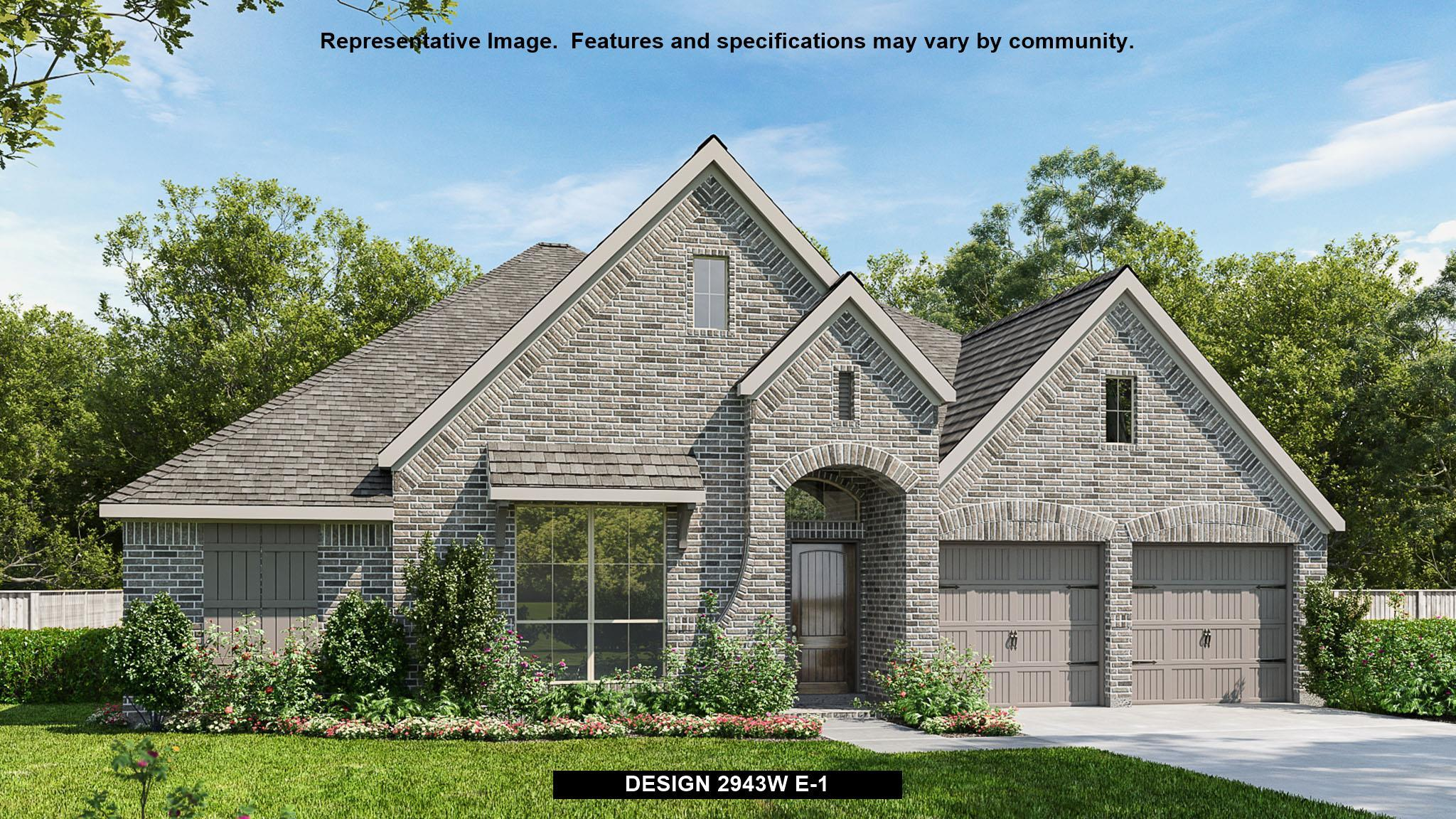 Exterior featured in the 2943W By Perry Homes in Houston, TX