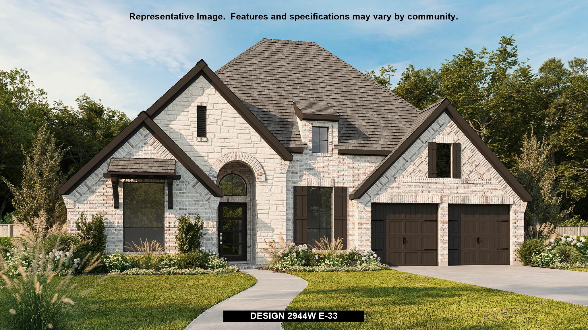 Exterior featured in the 2944W By Perry Homes in San Antonio, TX