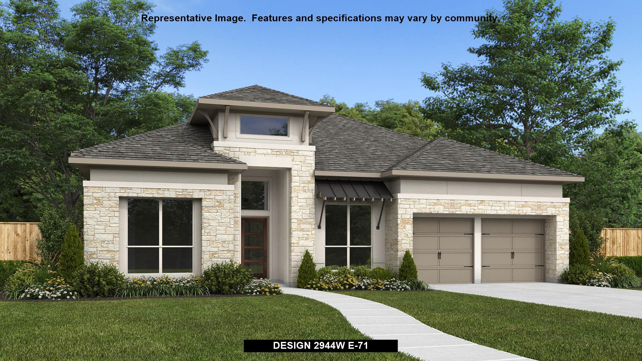 Exterior featured in the 2944W By Perry Homes in Austin, TX